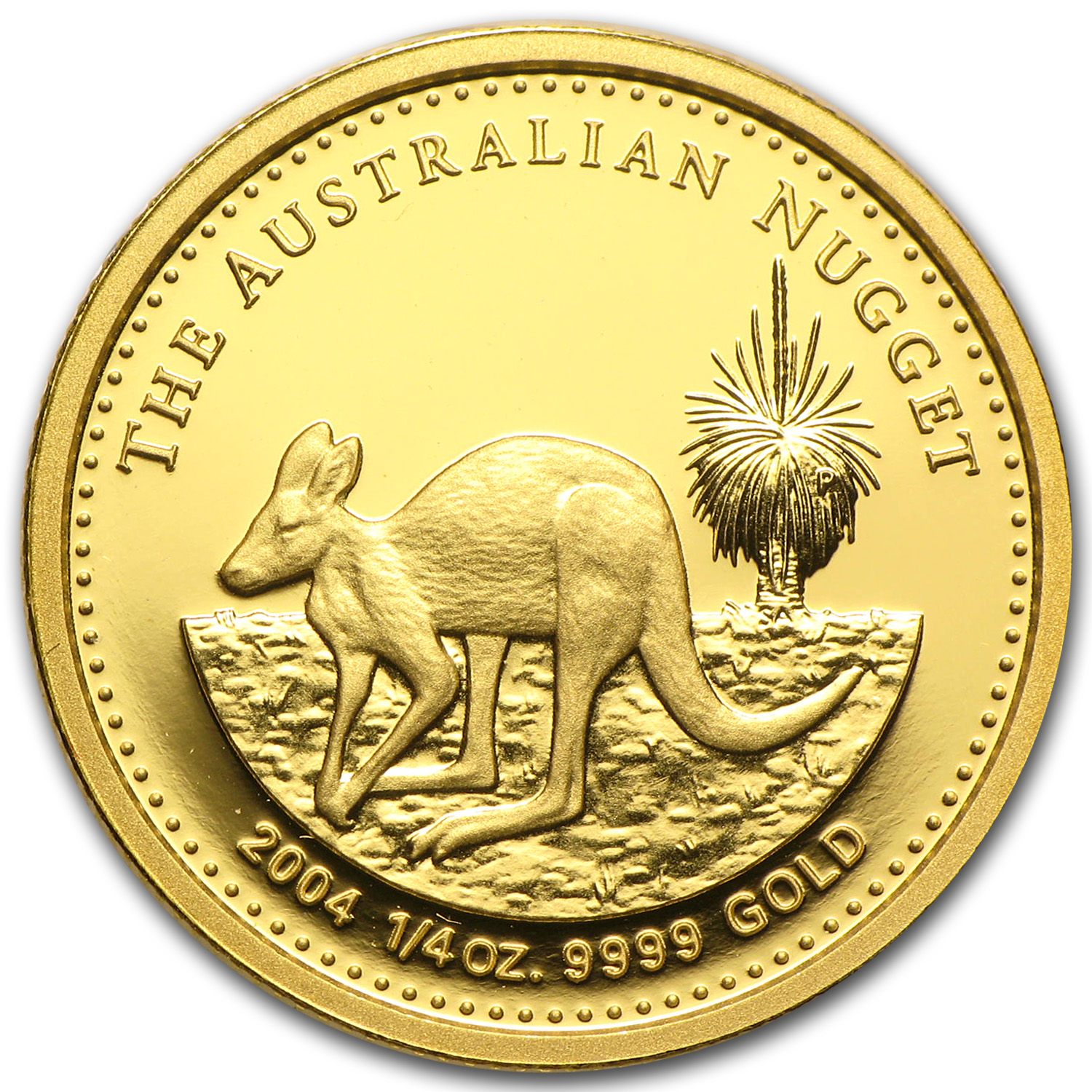 2004 1/4 oz Australian Proof Gold Nugget