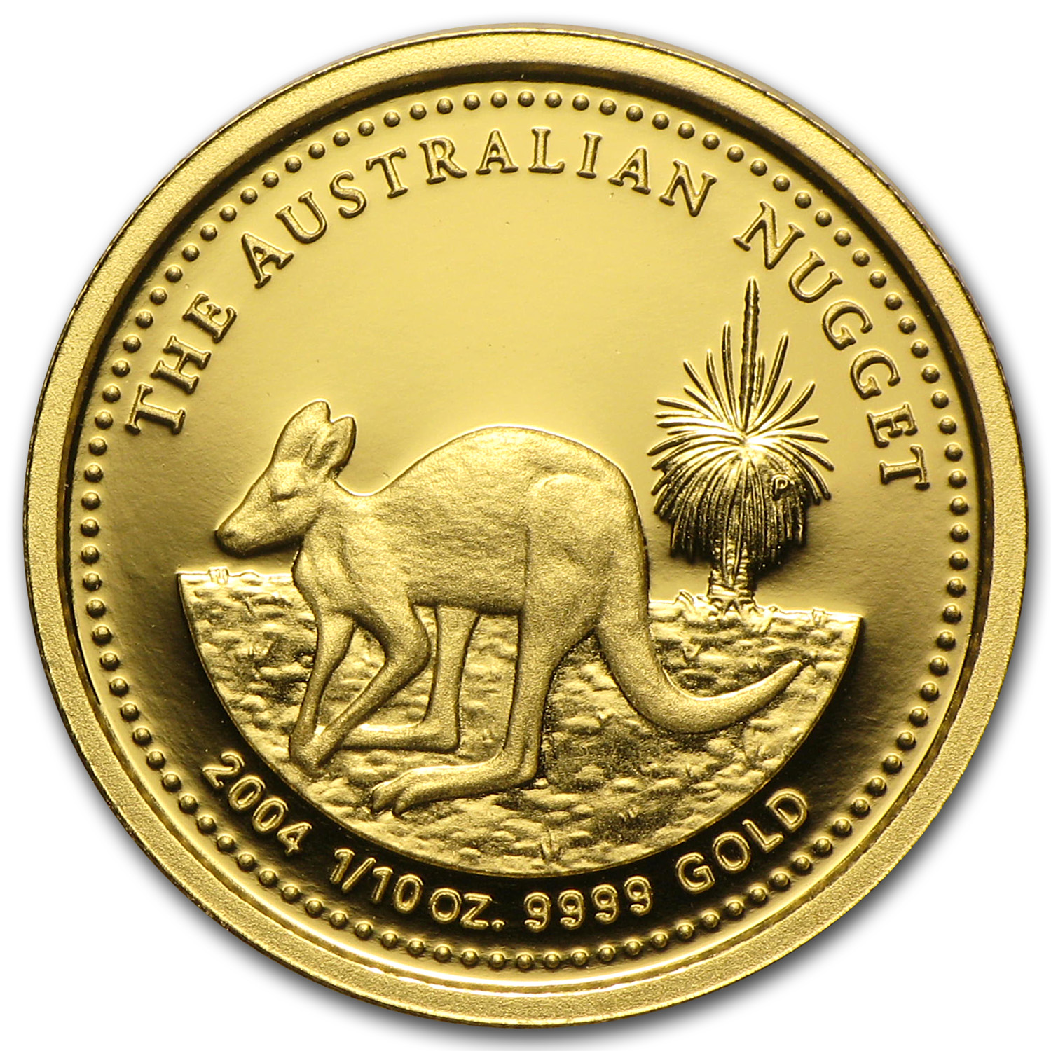2004 Australia 1/10 oz Proof Gold Nugget