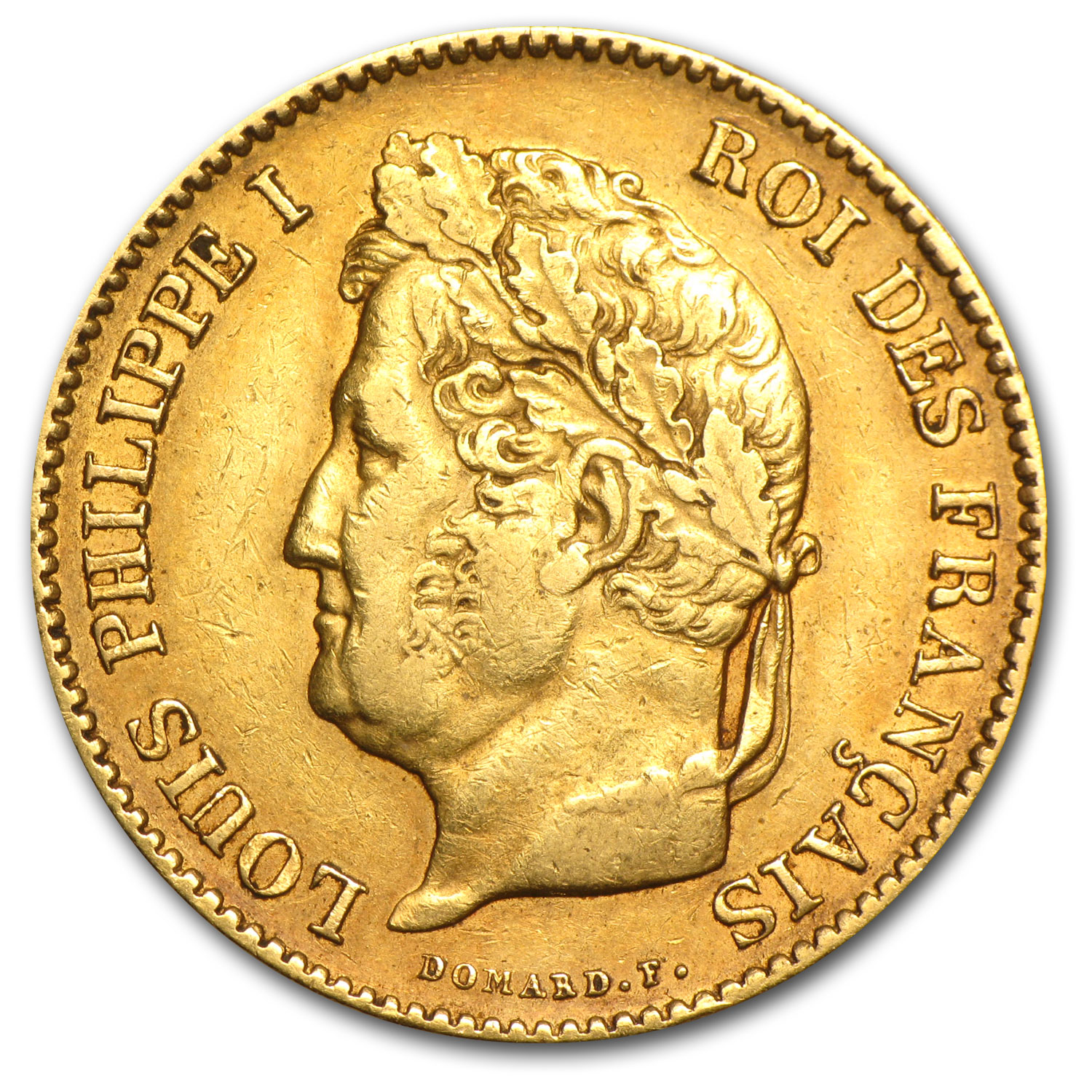 1831-1838 France Gold 40 Francs Louis Philippe I XF