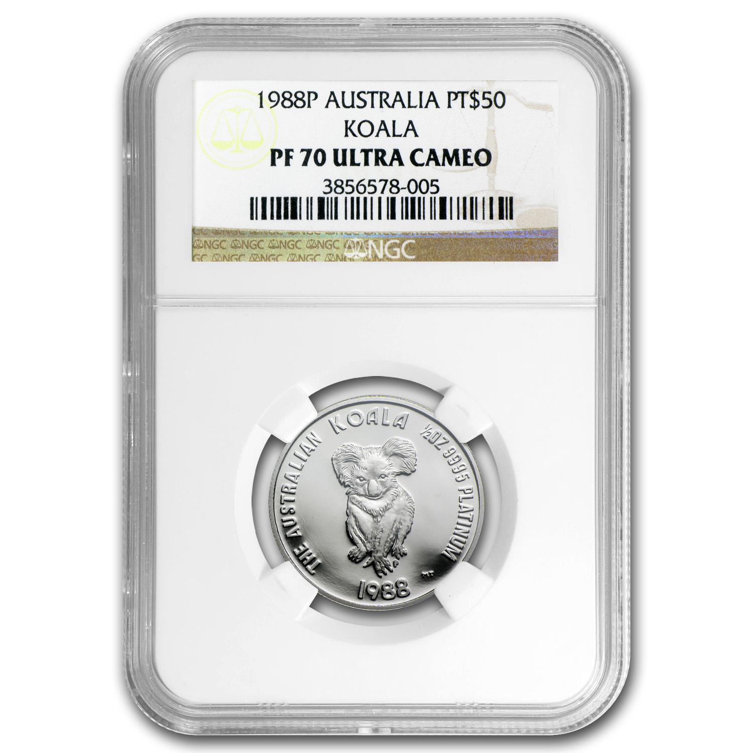 1988 Australia 1/2 oz Proof Platinum Koala PF-70 NGC