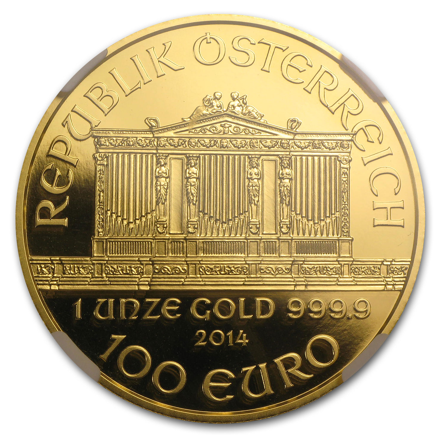 2014 1 oz Proof Gold Austrian Philharmonic PF-70 NGC (ER)