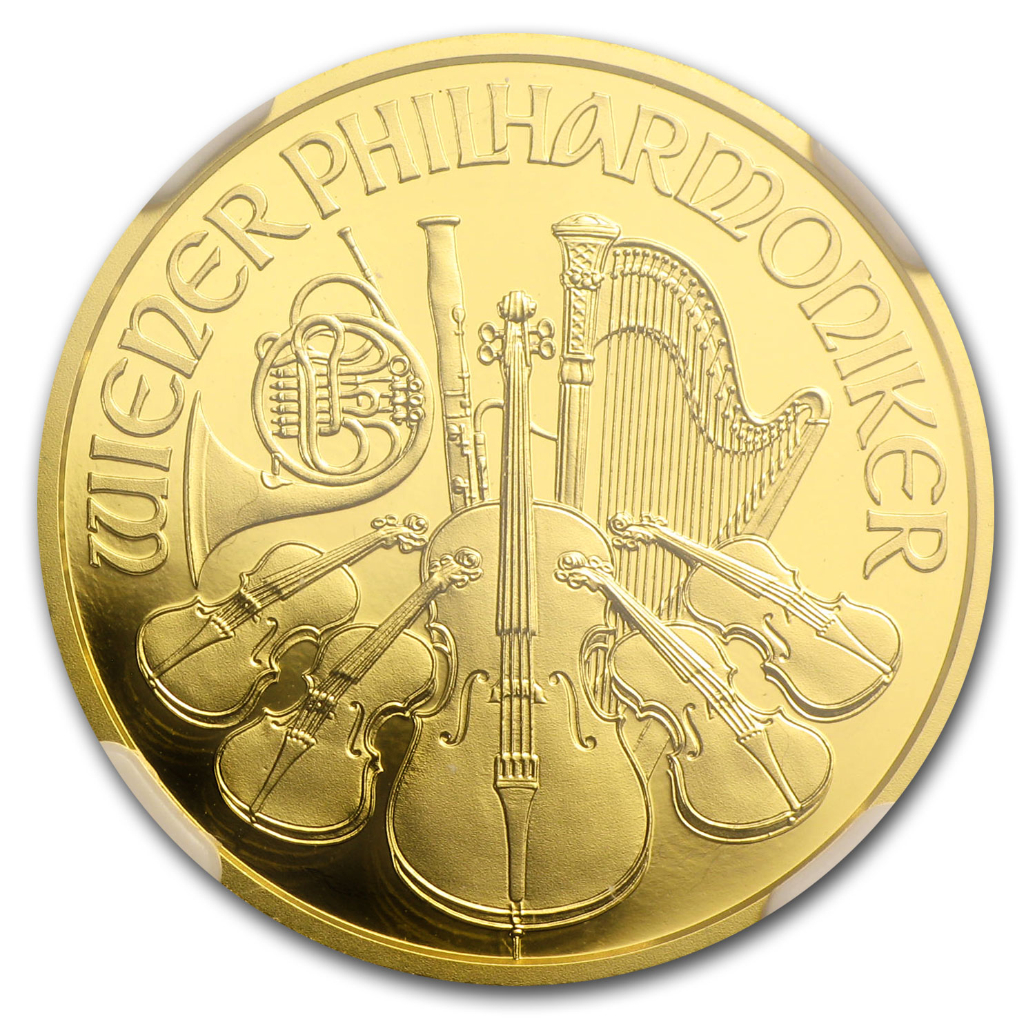 2014 Austria 1/4 oz Proof Gold Philharmonic PF-70 NGC (ER)