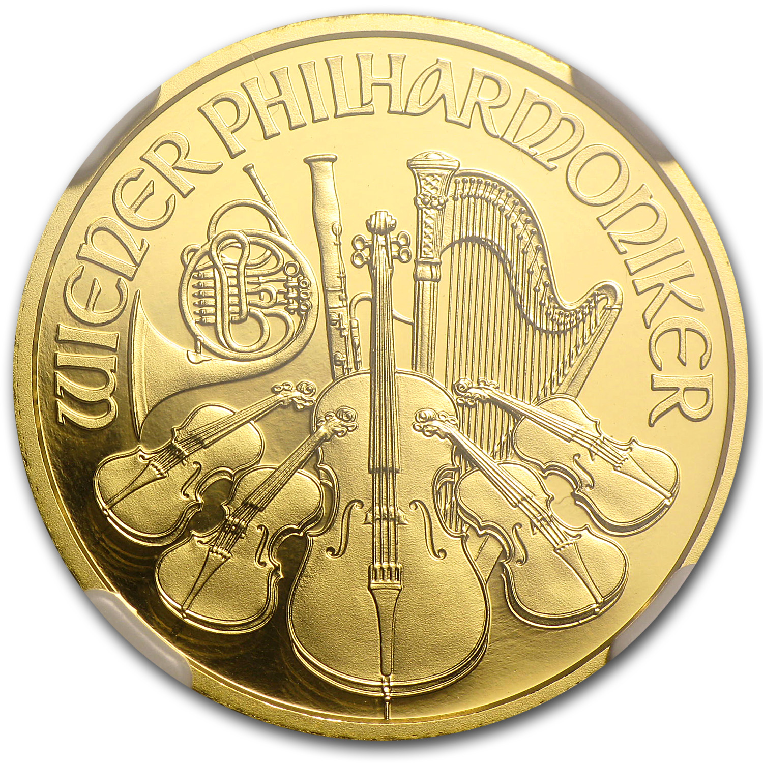 2014 Austria 1/4 oz Proof Gold Philharmonic PF-69 NGC (ER)