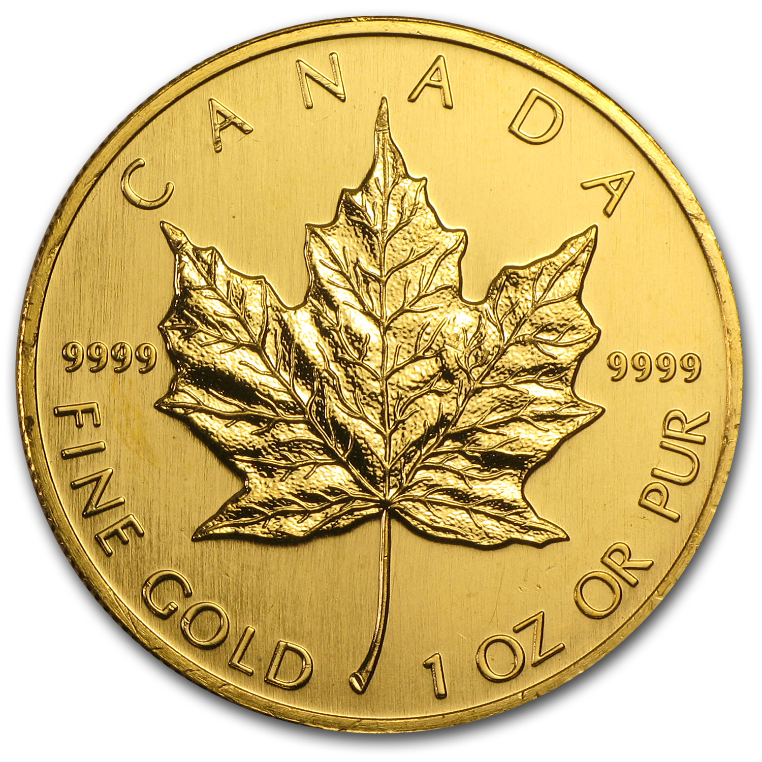 1991 Canada 1 oz Gold Maple Leaf BU