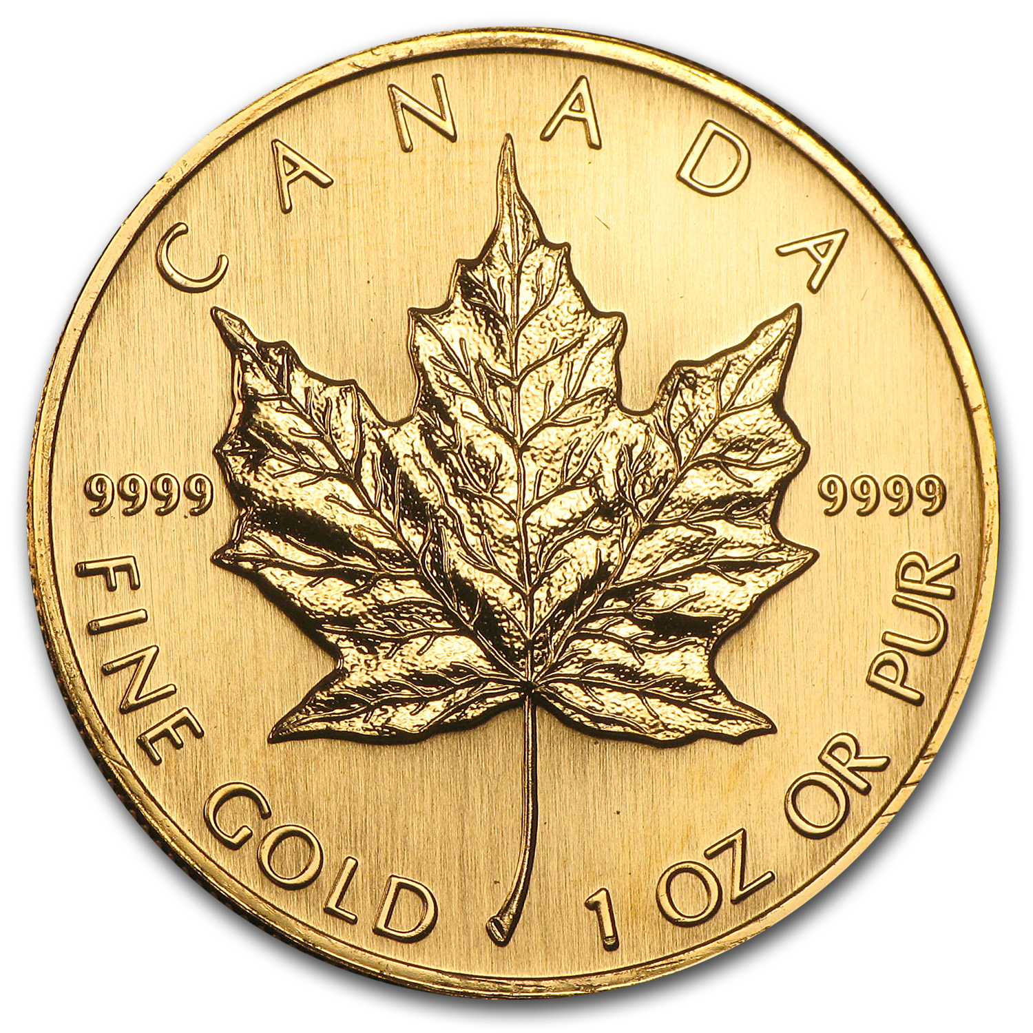 1996 Canada 1 oz Gold Maple Leaf BU