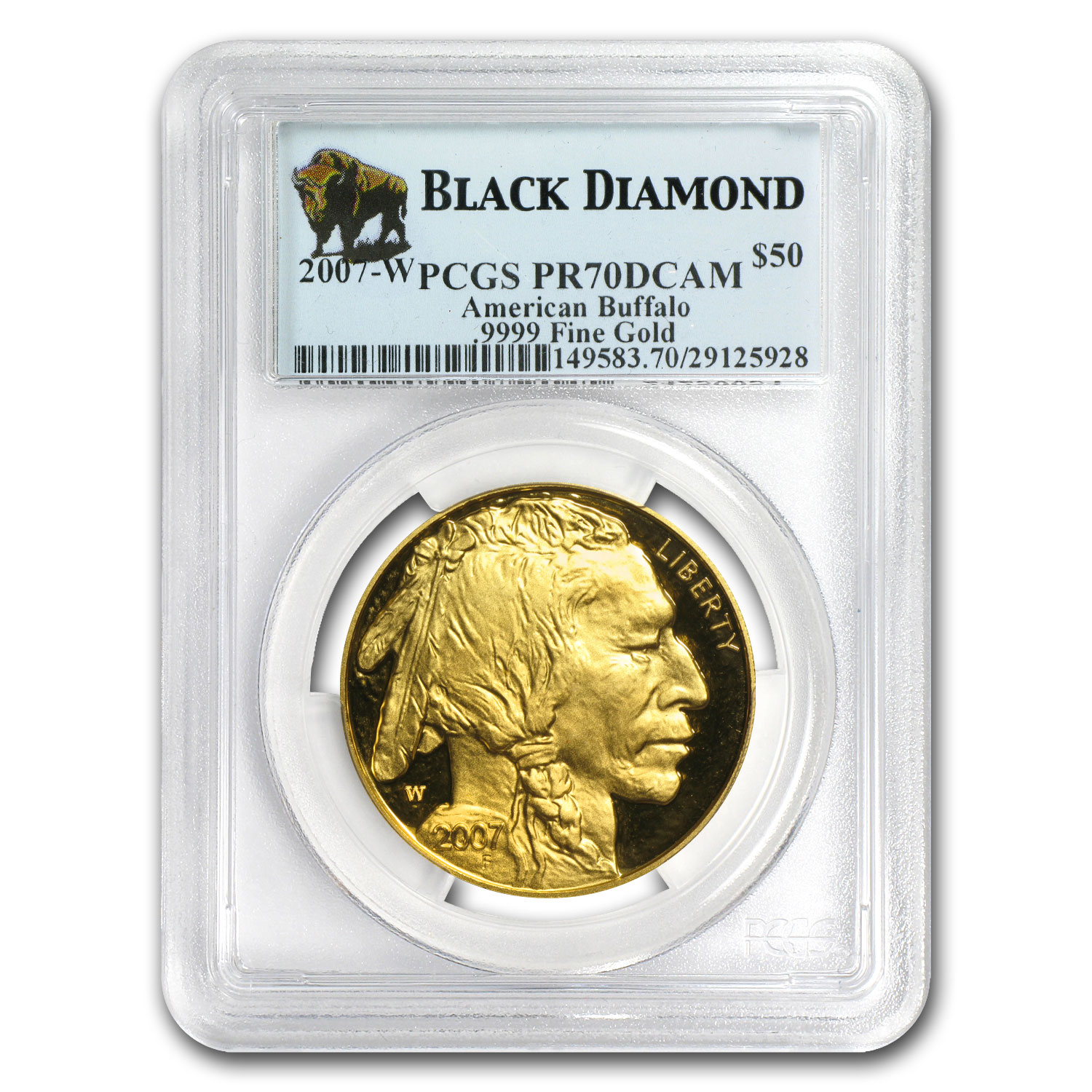2006-2013 1 oz Gold Buffalo PR-70 PCGS Black Diamond 8-Coin Set