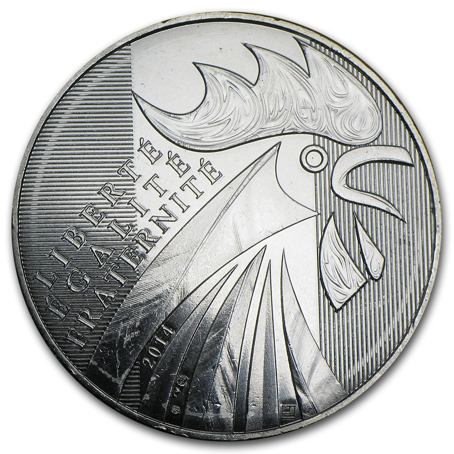 2014 France Silver €10 The Rooster (Face Value Coins)
