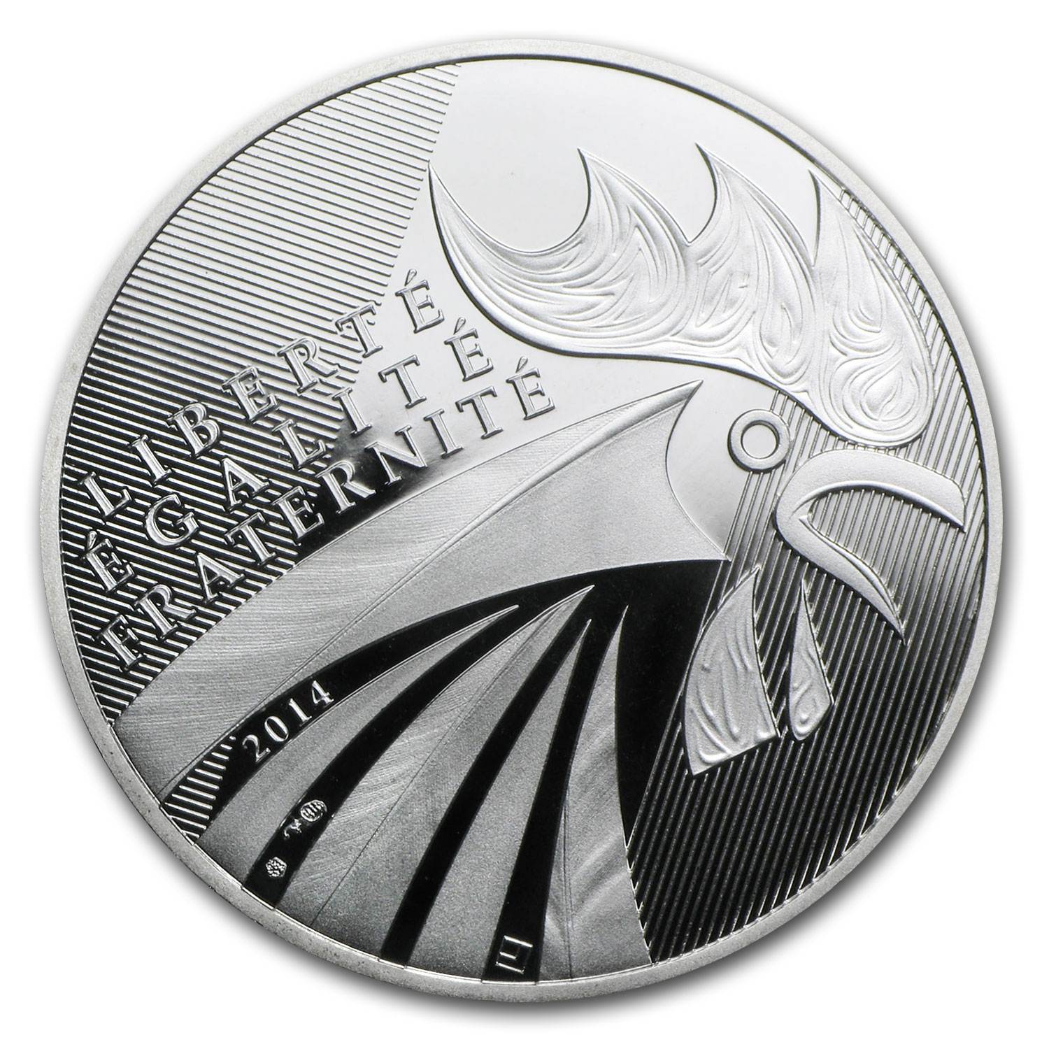 2014 France Silver €10 The Rooster Proof