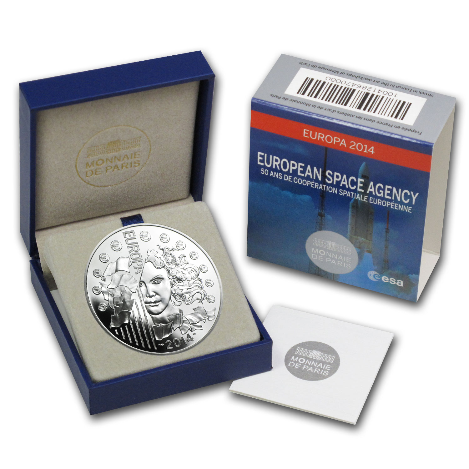 2014 10 Euro Silver Europa Series - 50th Anniv. of European Space