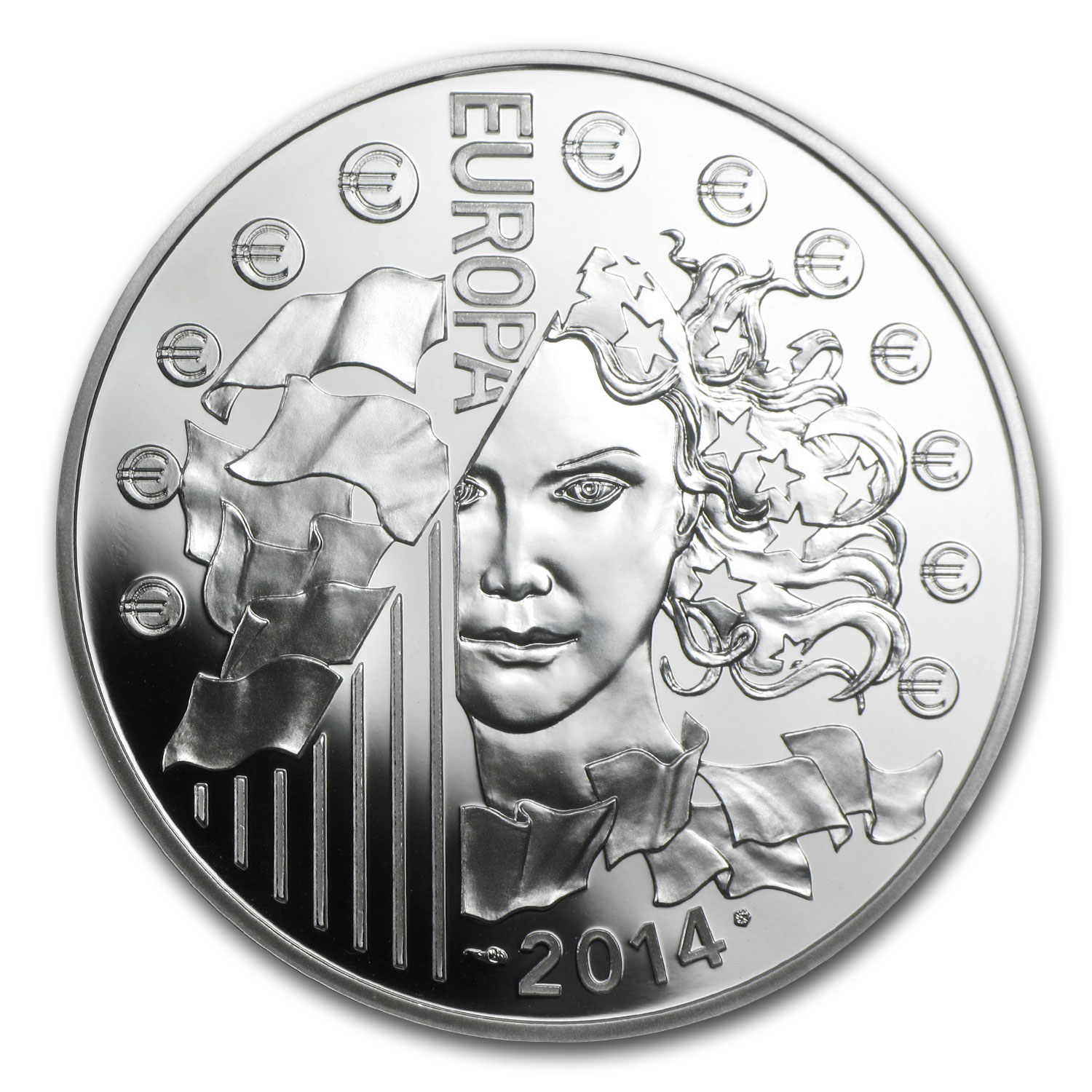 2014 Silver €10 Europa Series Prf (50th Anniv of European Space)