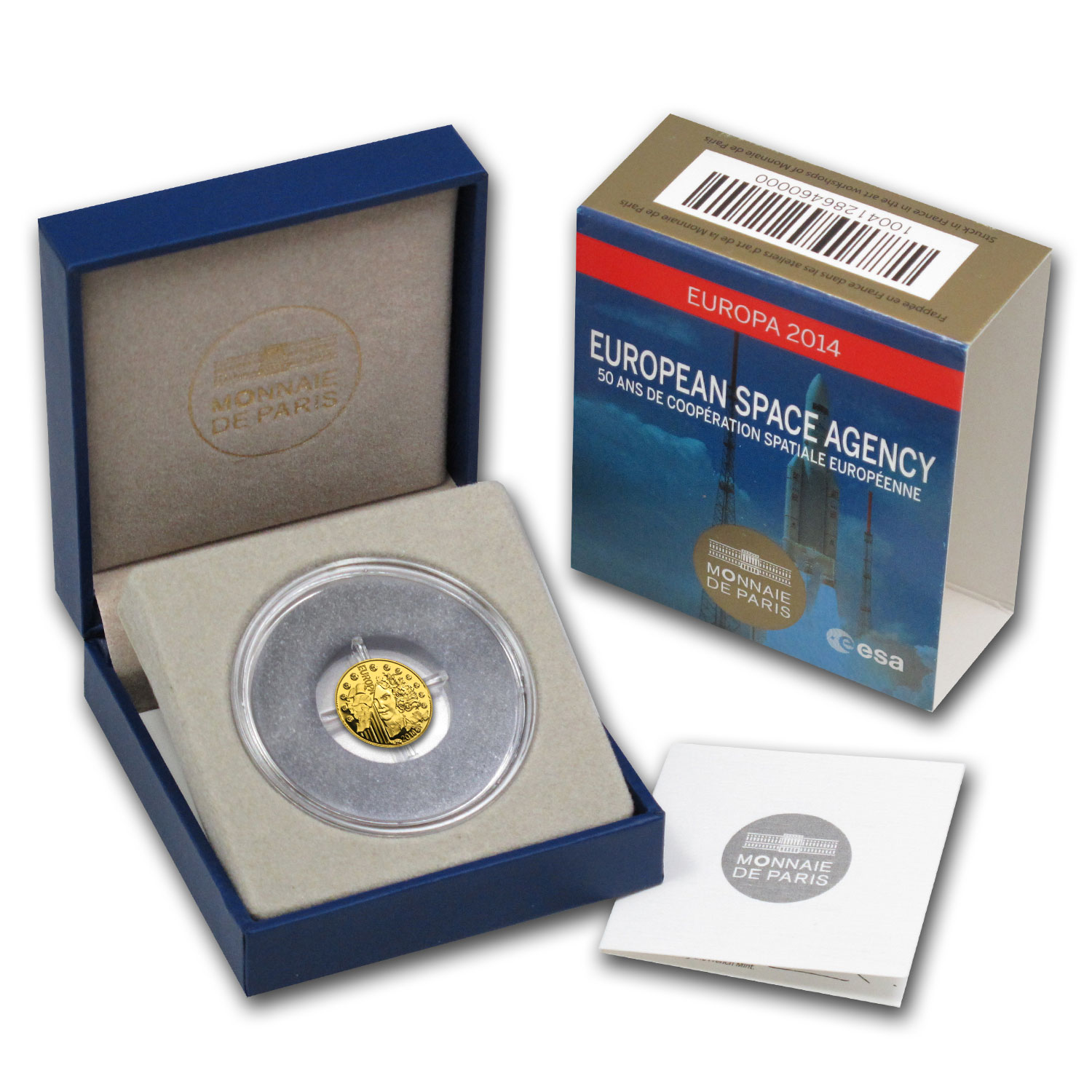 2014 1/2 gram Gold Europa Series 50th Anniv of European Space