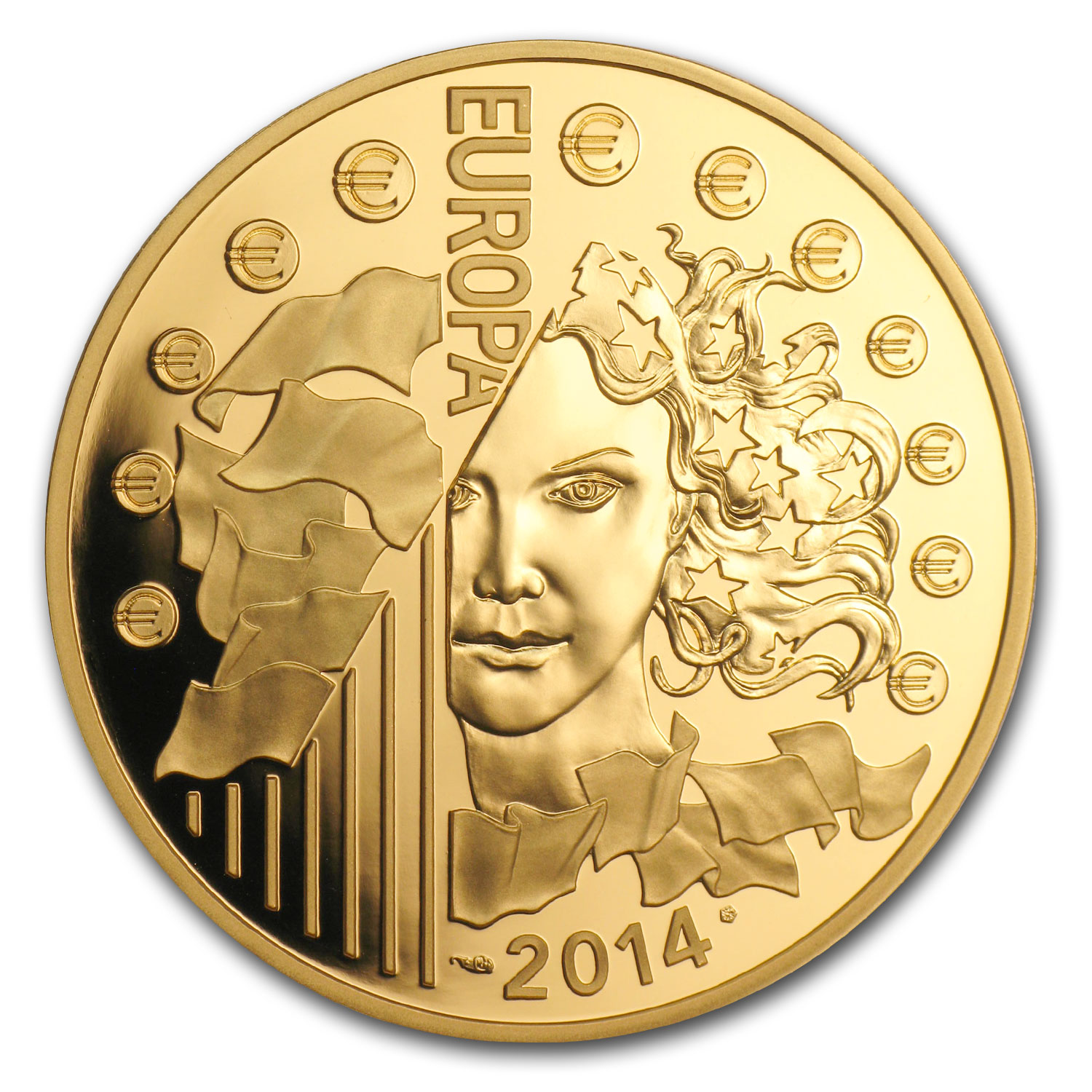 2014 1 oz Gold €200 Europa Series 50th Ann. of European Space
