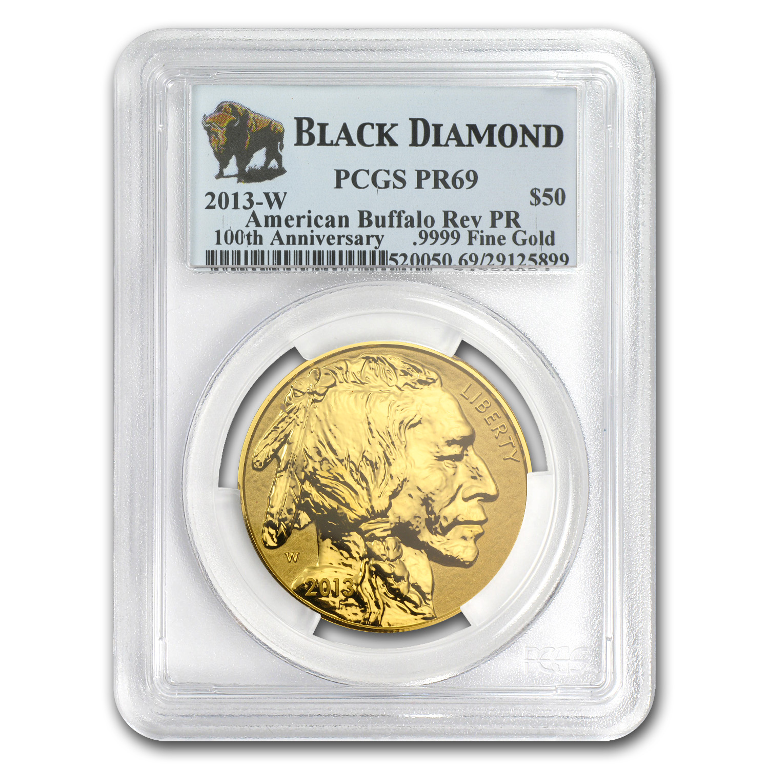 2013-W 1 oz Reverse Proof Gold Buffalo PR-69 PCGS (Black Diamond)