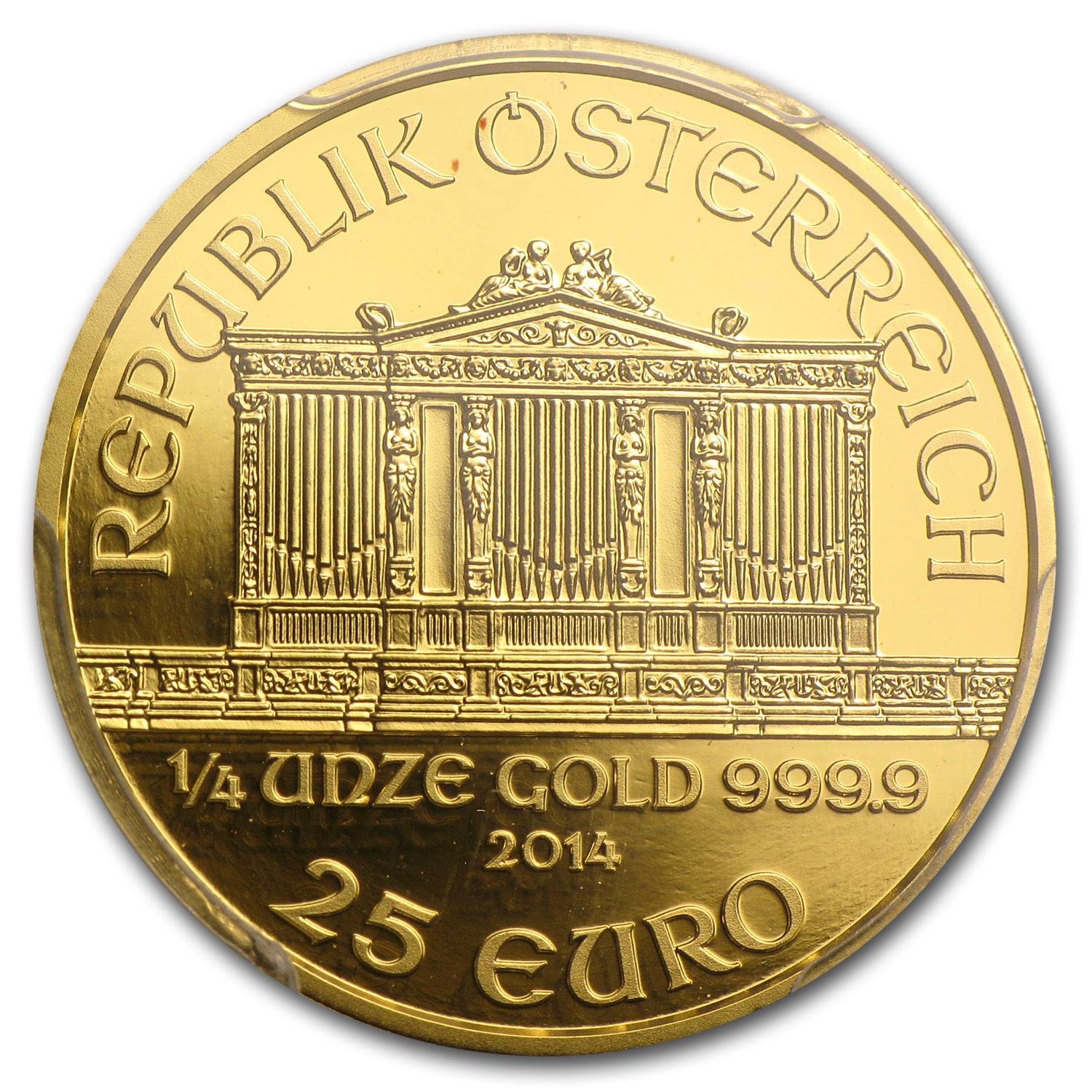 2014 Austria 1/4 oz Proof Gold Philharmonic PR-70 PCGS