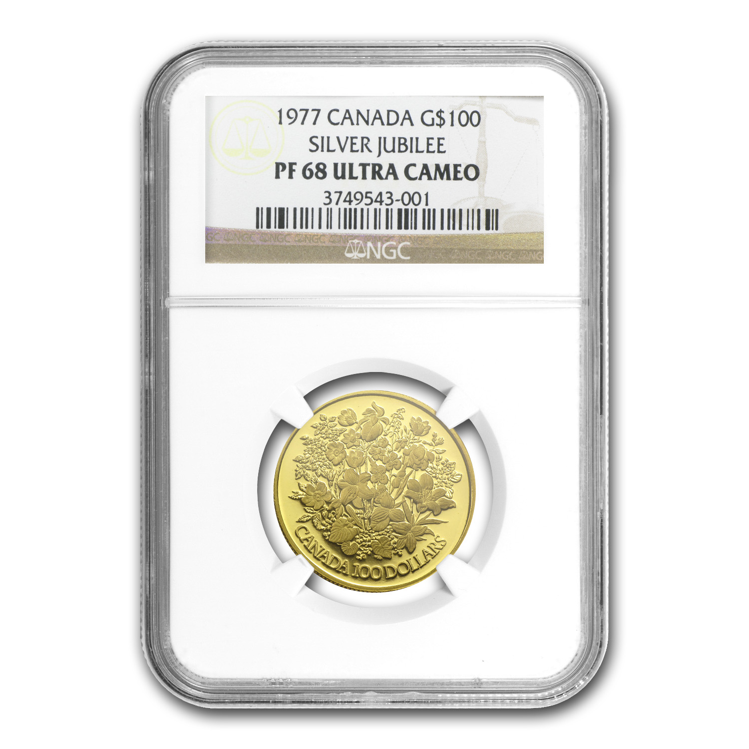 1977 1/2 oz Gold Canadian $100 Silver Jubilee PF-68 NGC