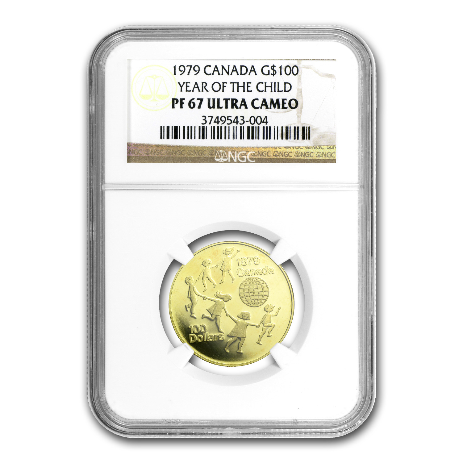 1979 1/2 oz Gold Canadian $100 Year of the Child PF-67 NGC