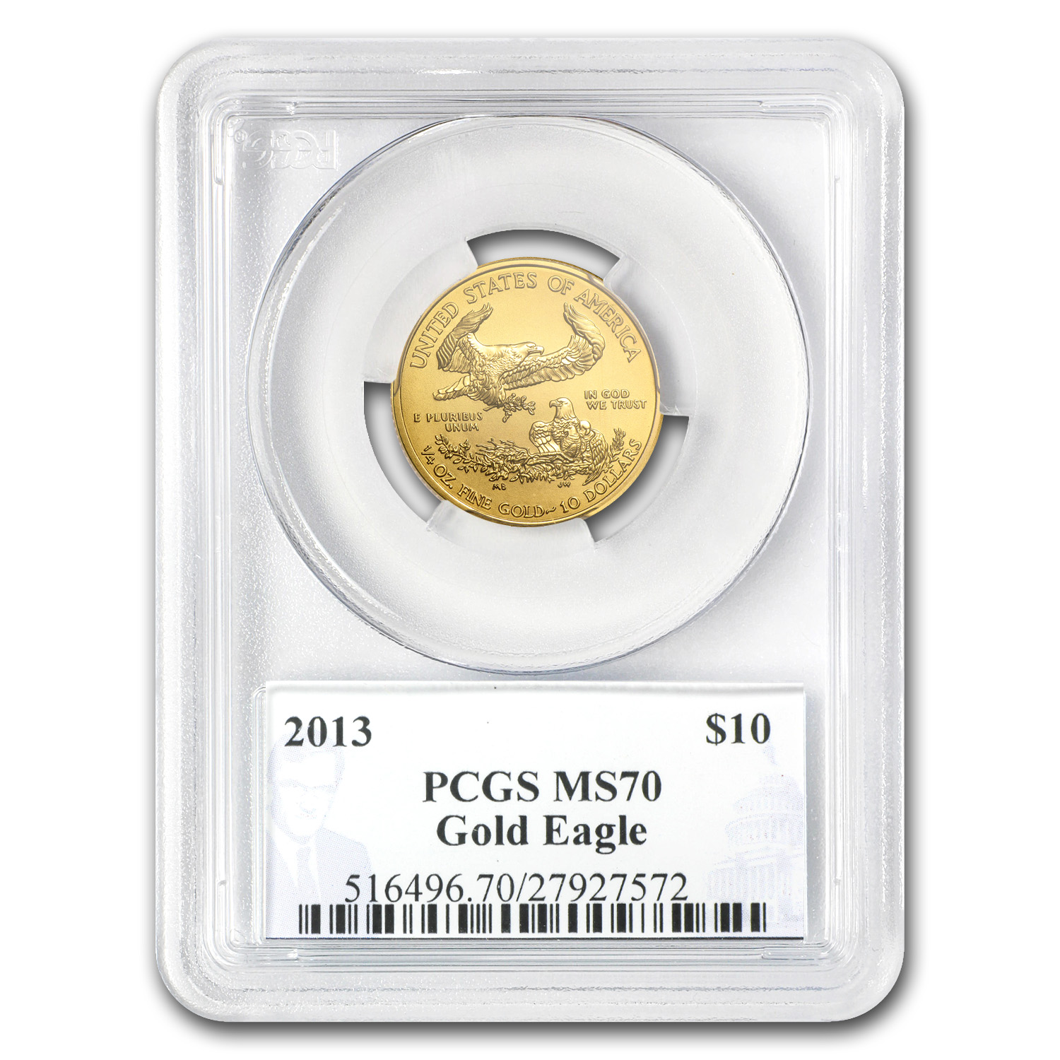 2013 1/4 oz Gold American Eagle MS-70 PCGS