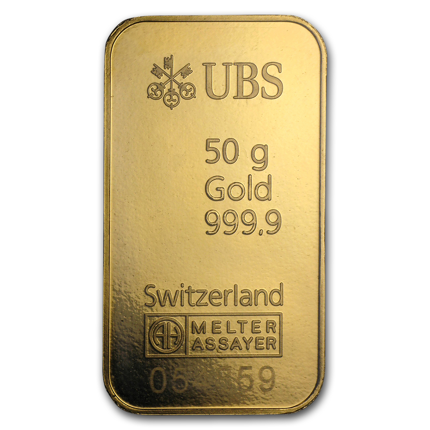 50 gram Gold Bar - UBS