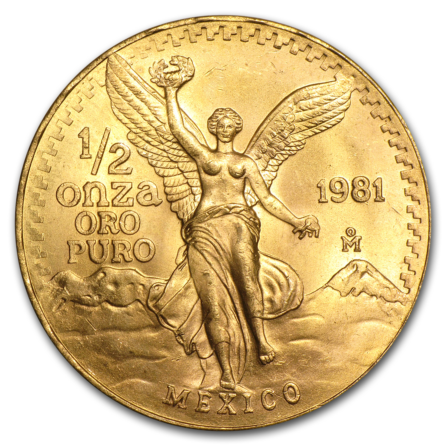 1981 Mexico 1/2 oz Gold Libertad BU