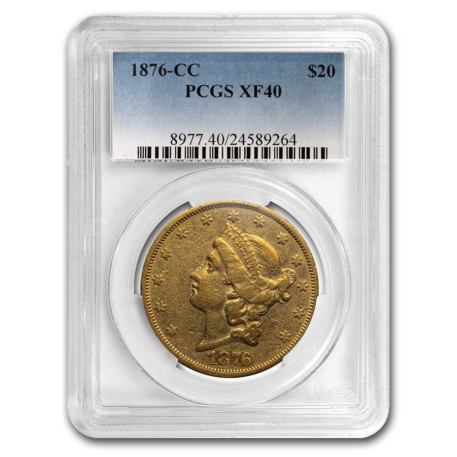 1876-CC $20 Liberty Gold Double Eagle XF-40 PCGS