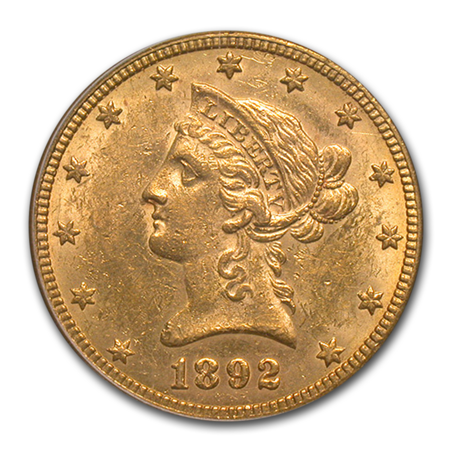 1892-O $10 Liberty Gold Eagle - MS-61 PCGS