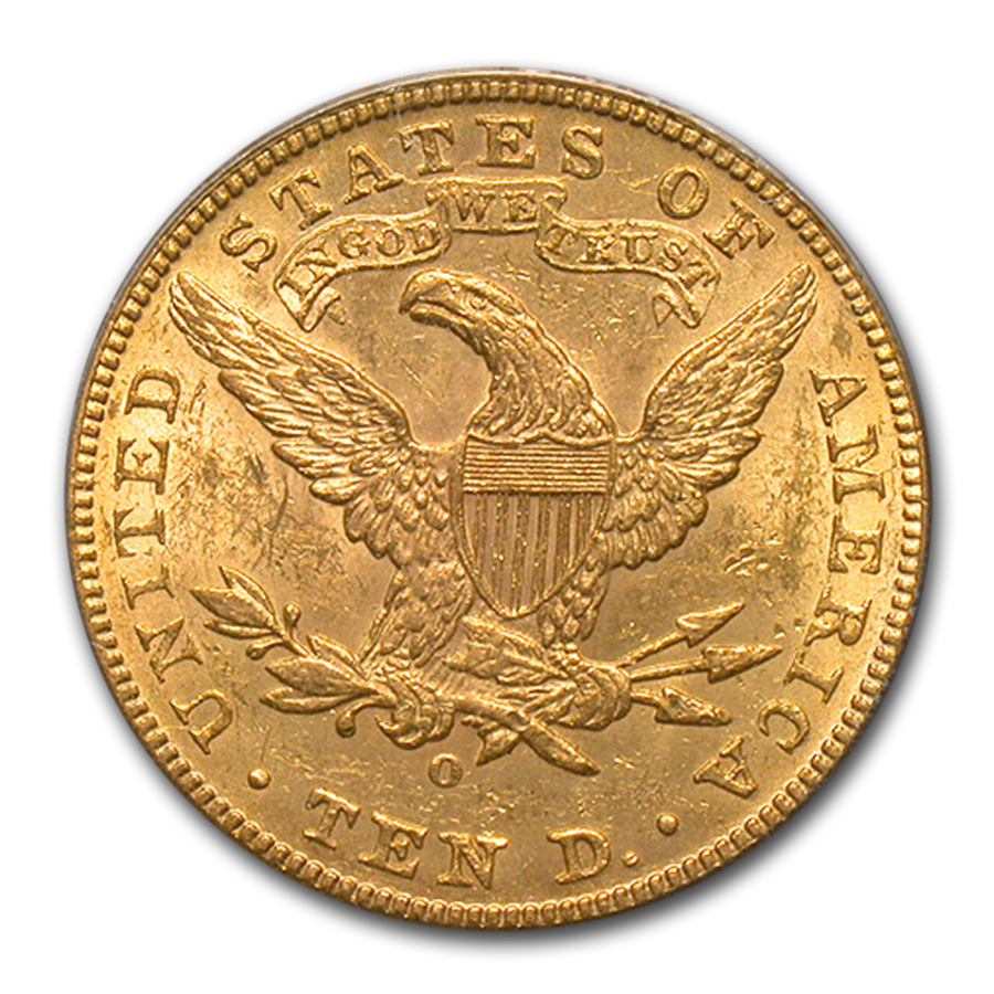 1892-O $10 Liberty Gold Eagle MS-61 PCGS