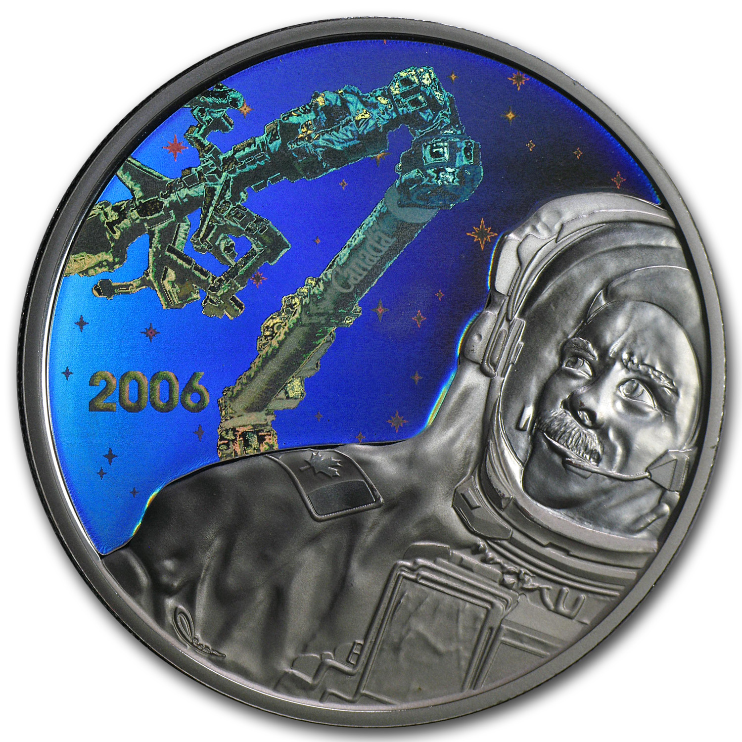 2006 Silver Canadian $30 Canadarm2 Proof (Hologram)