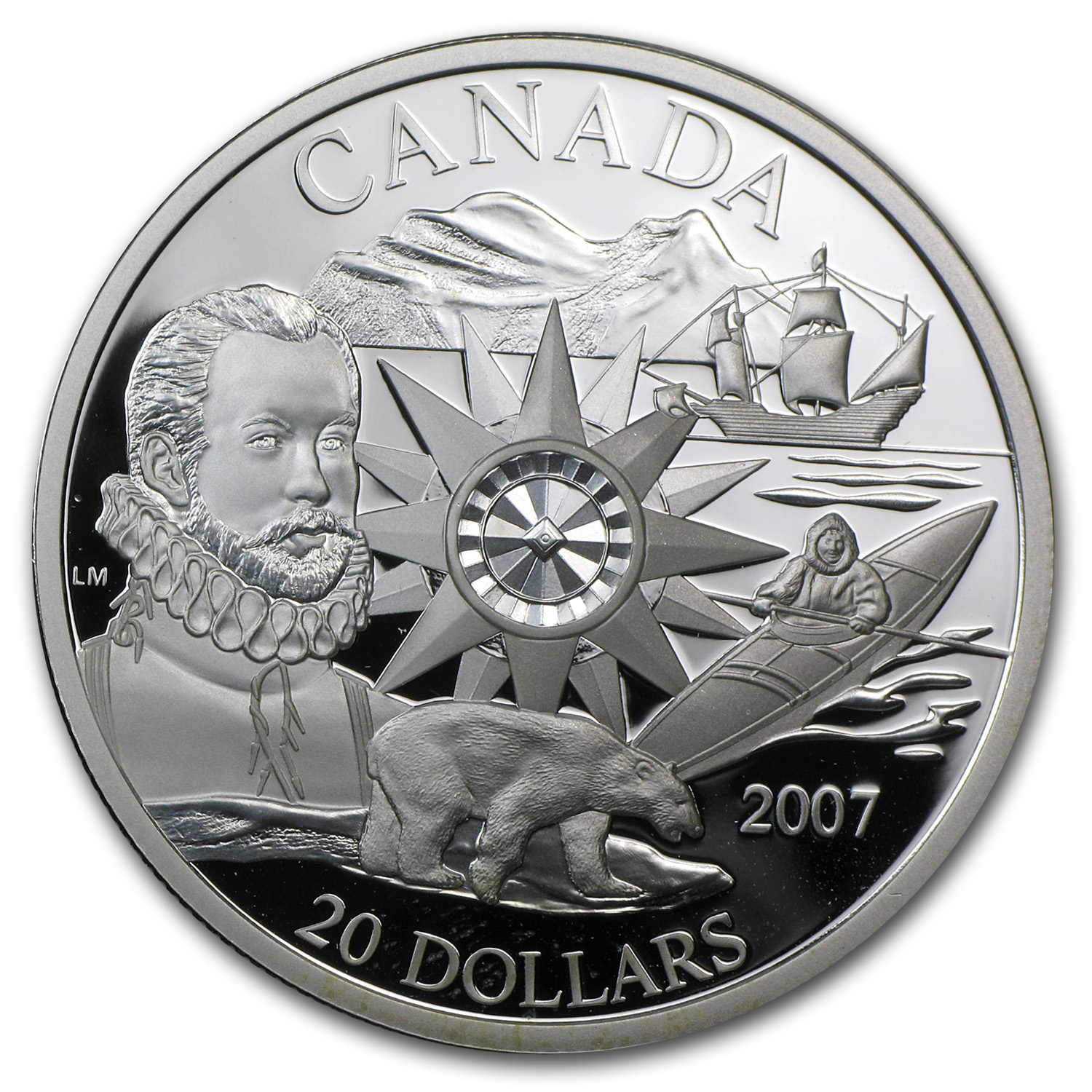 2007 Canada Silver $20 International Polar Year