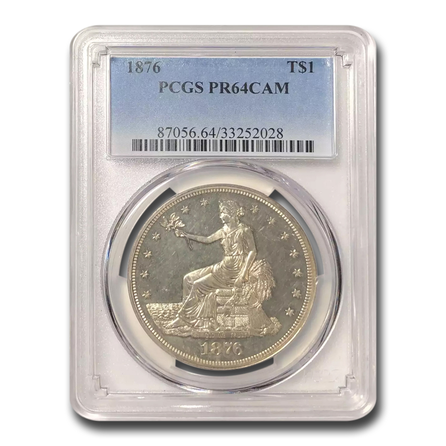 1876 Trade Dollar PR-64 Cameo PCGS