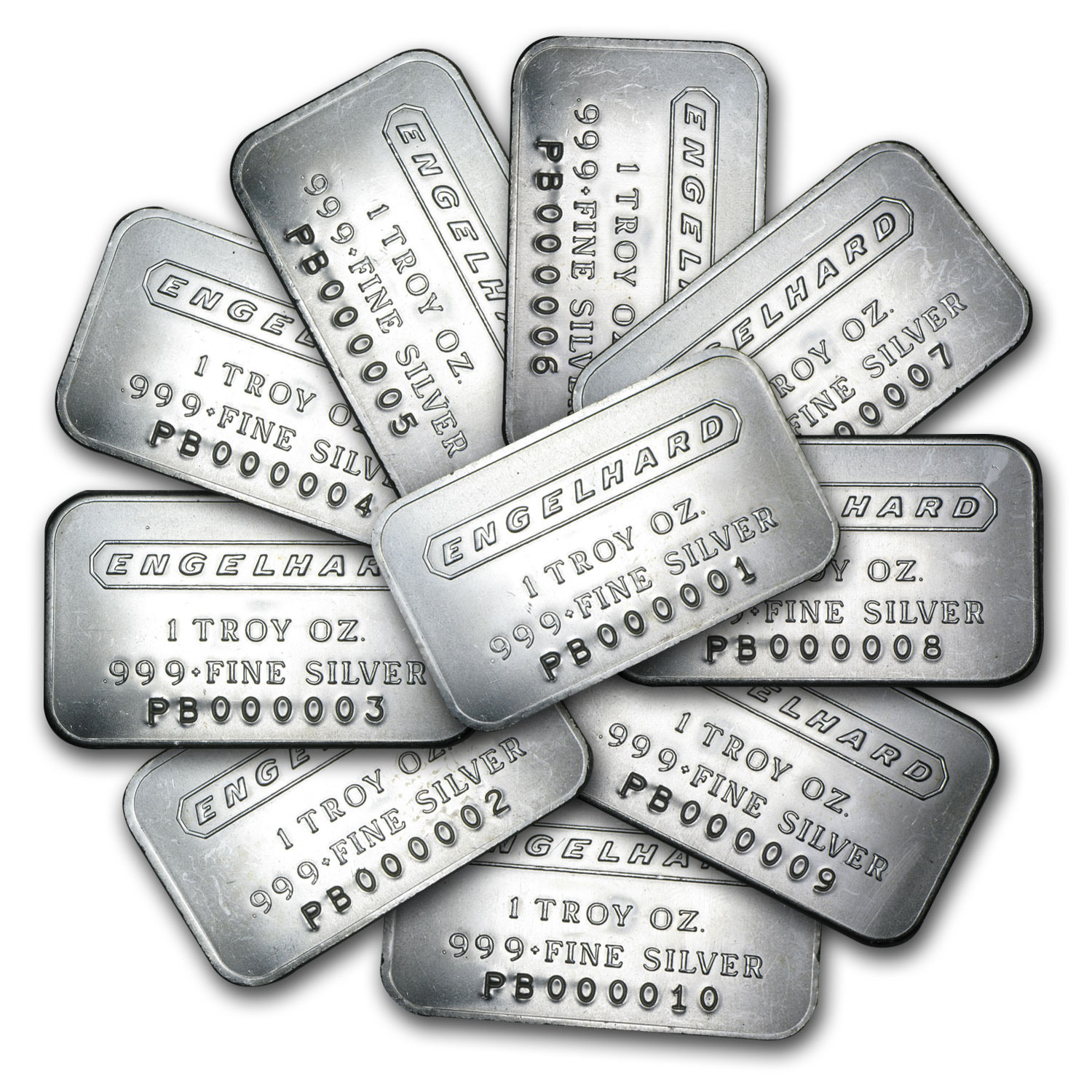 500 Oz Silvers: Engelhard Set (Frosted/1980/6