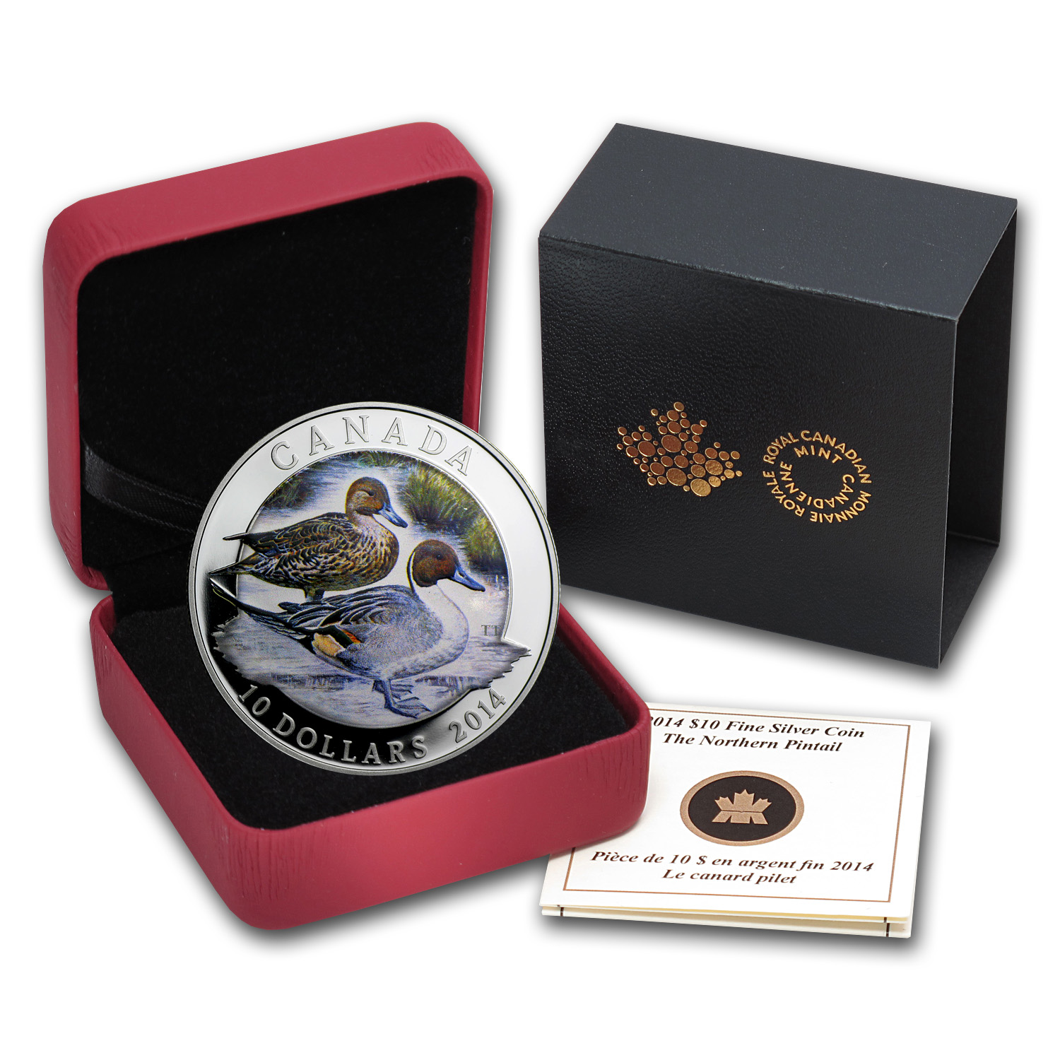 2014 1/2 oz Silver Canadian $10 Ducks of Canada (Pintail)