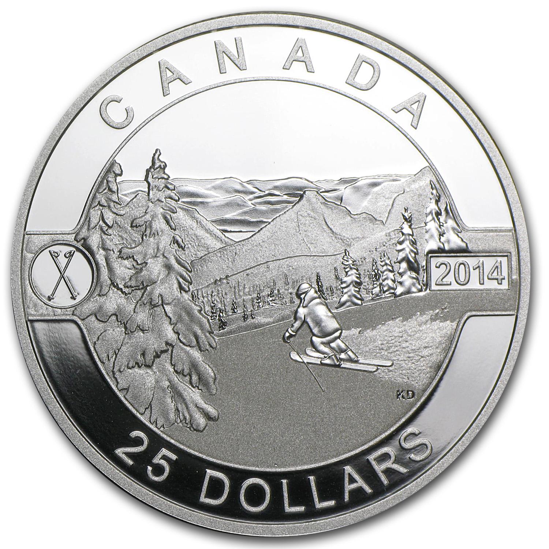 2014 Canada 1 Oz Silver 25 Scenic Skiing In Canada