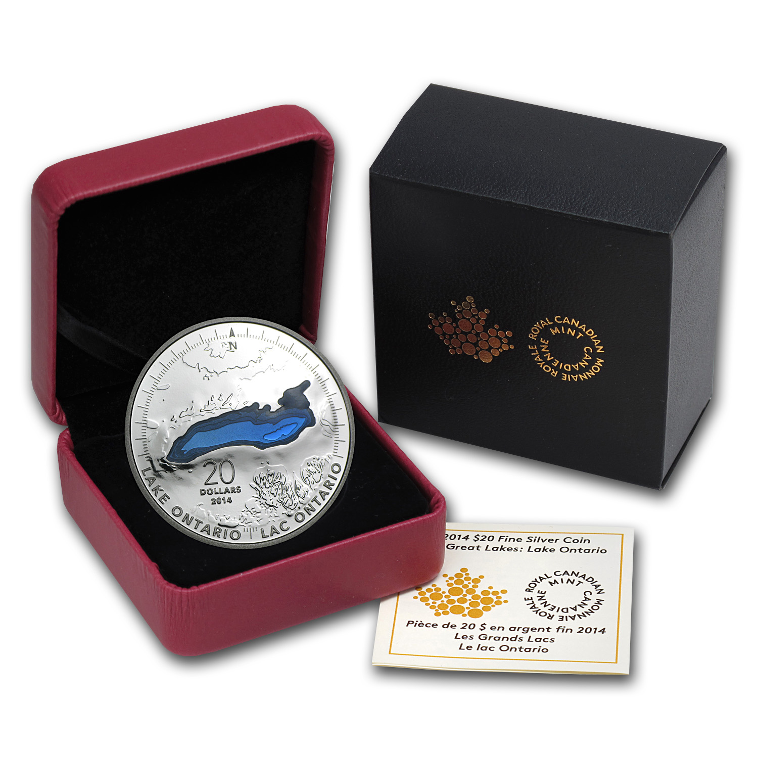 2014 Canada 1 oz Silver $20 The Great Lakes Lake Ontario