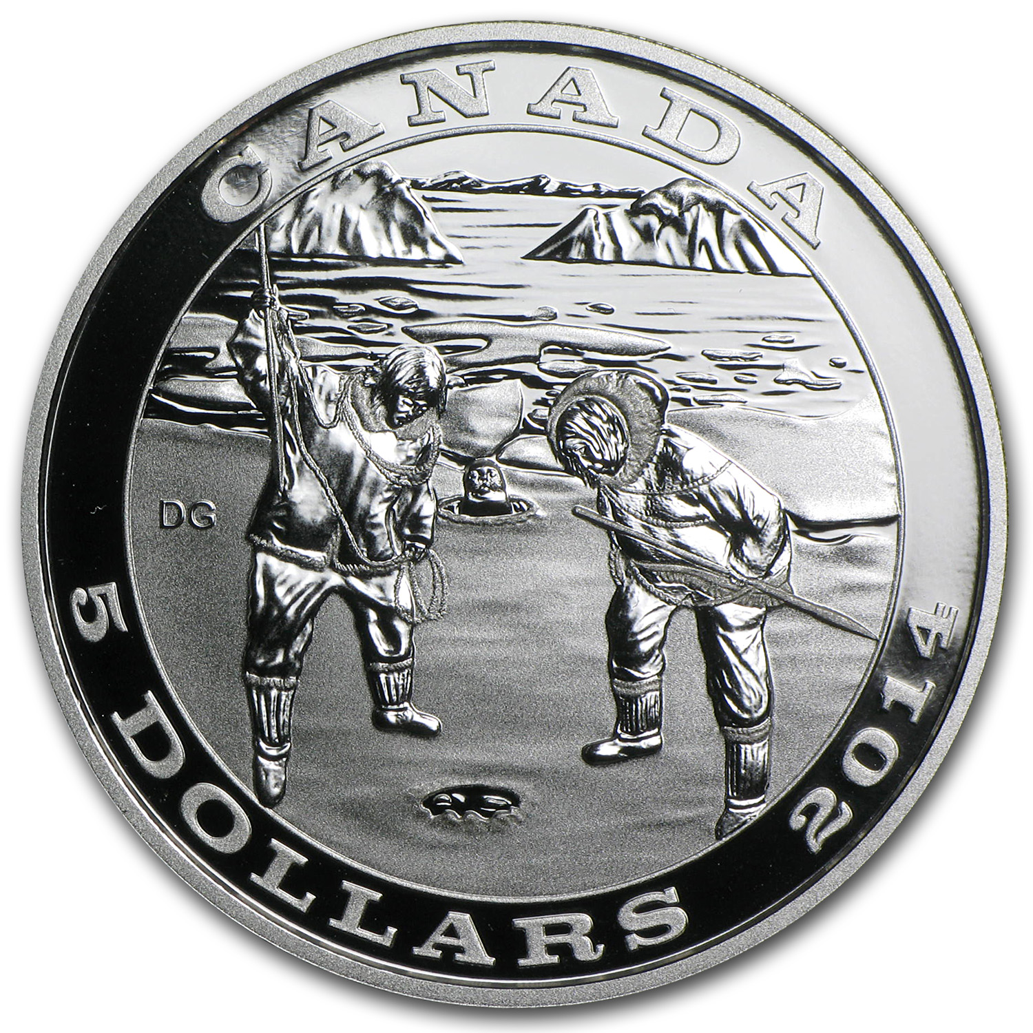 2014 Canada Silver $5 Tradition of Hunting Seal Proof