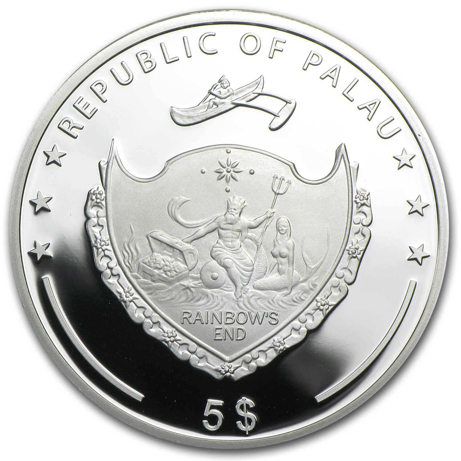 Palau 2014 Silver $5 Marine Life Protection - Beauty of the Sea