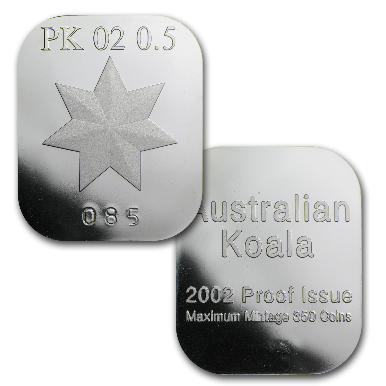 2002 1/2 oz Proof Australian Platinum Koala (w/Box & COA)