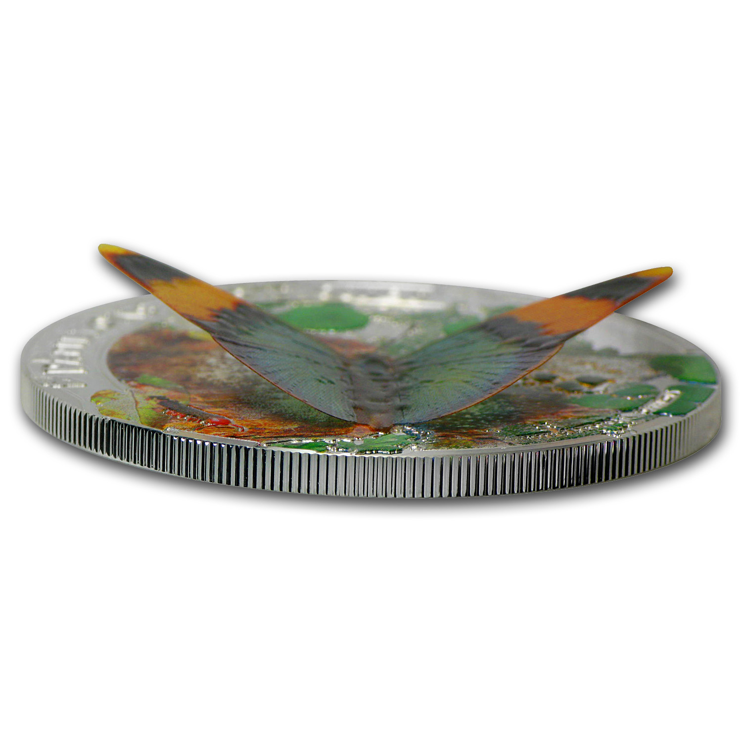 Central African Rep. 2014 Proof Silver 3D Exotic Butterflies