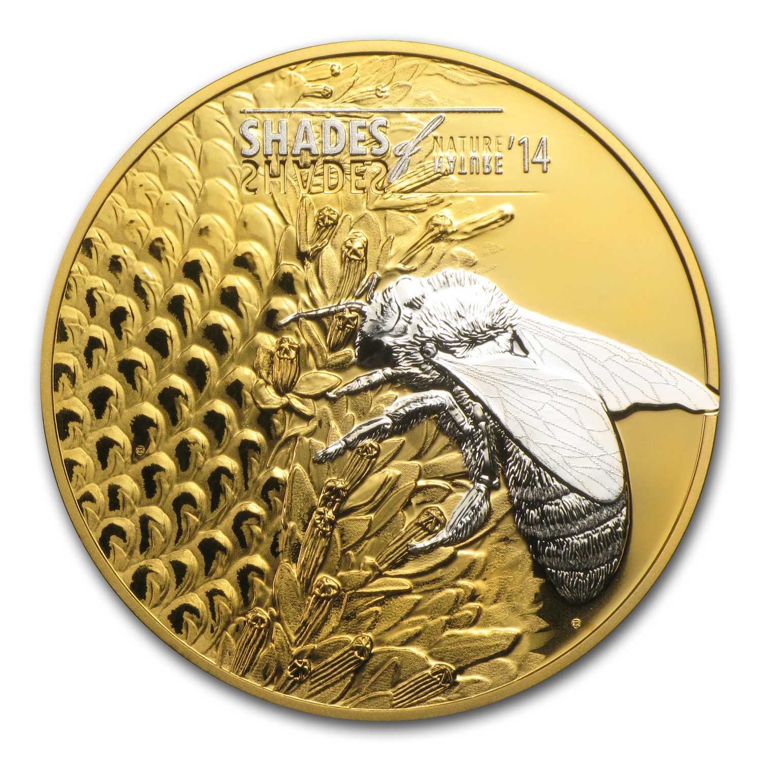 Cook Islands 2014 Proof Silver $5 Shades of Nature - Bee