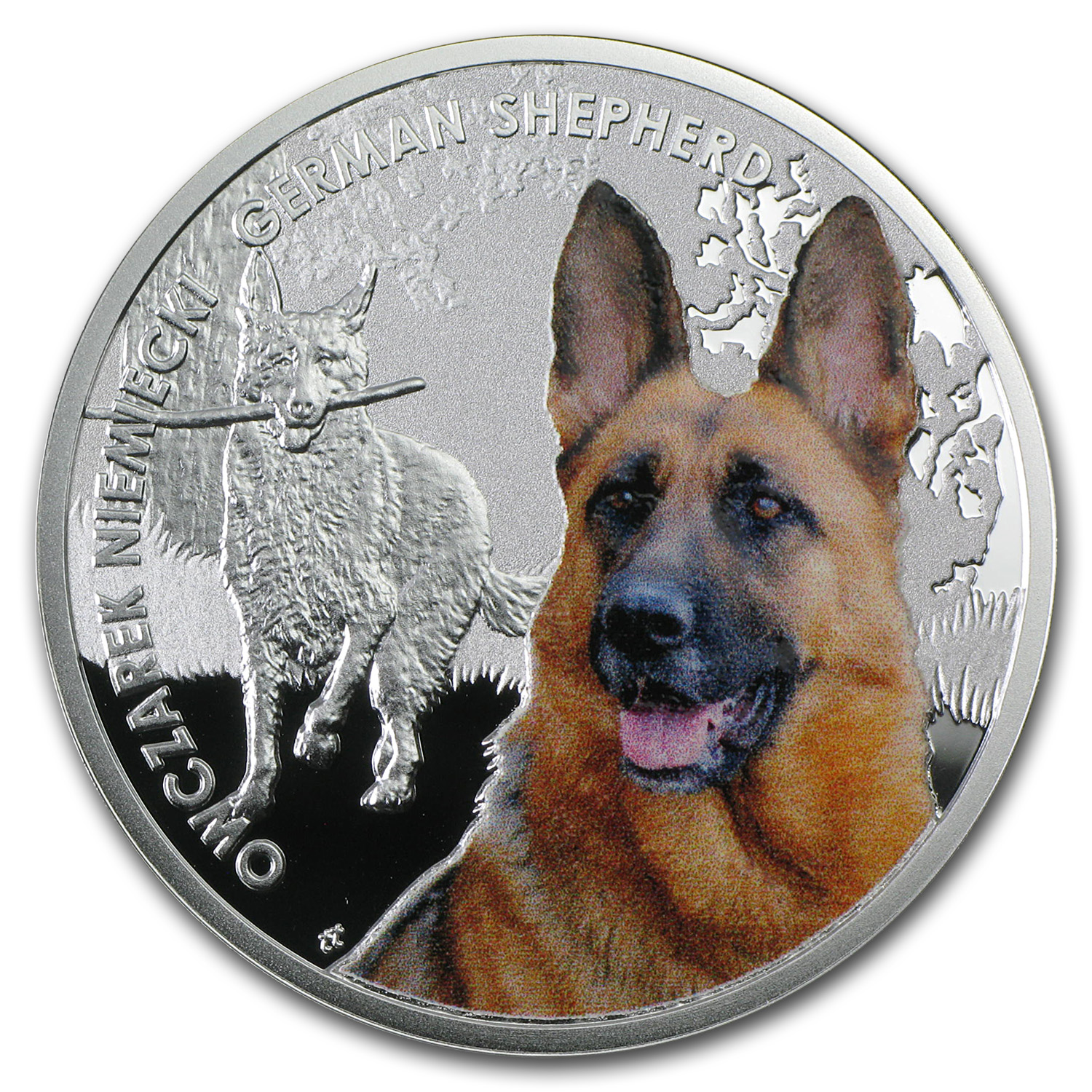 2014 Niue Proof Silver Man's Best Friends Dogs German Shepherd