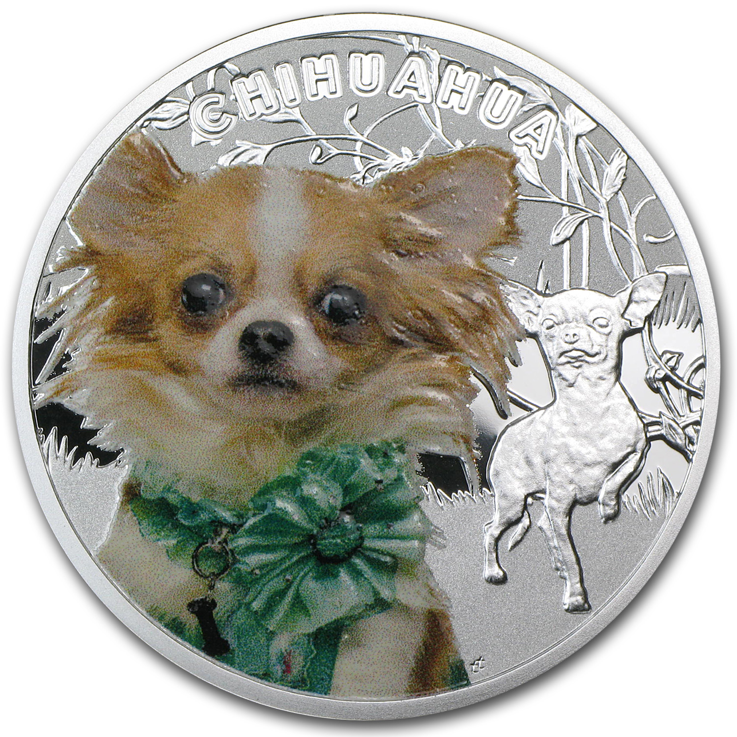 2014 Niue Proof Silver Man's Best Friends Chihuahua
