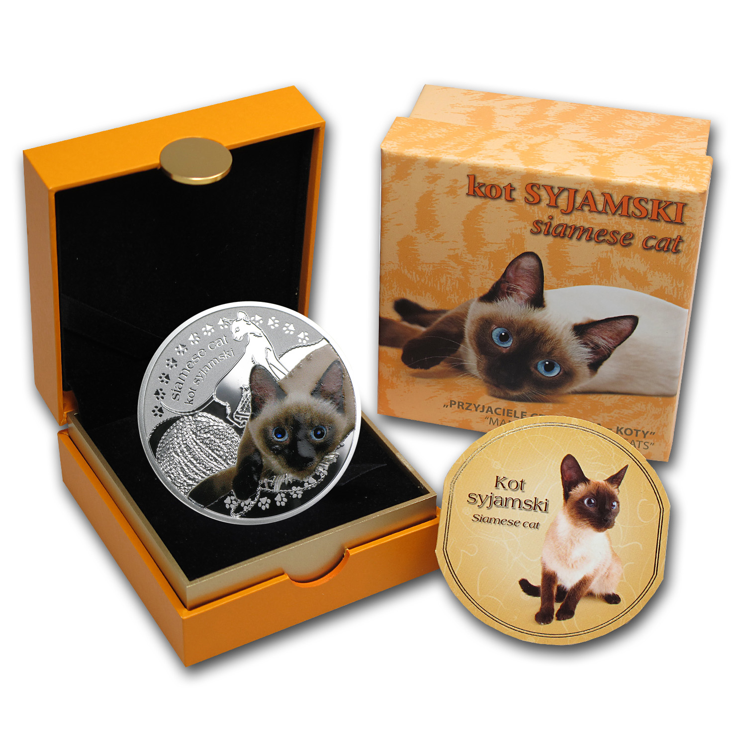 Niue 2014 Silver Proof Man's Best Friends - Cats - Siamese Cat