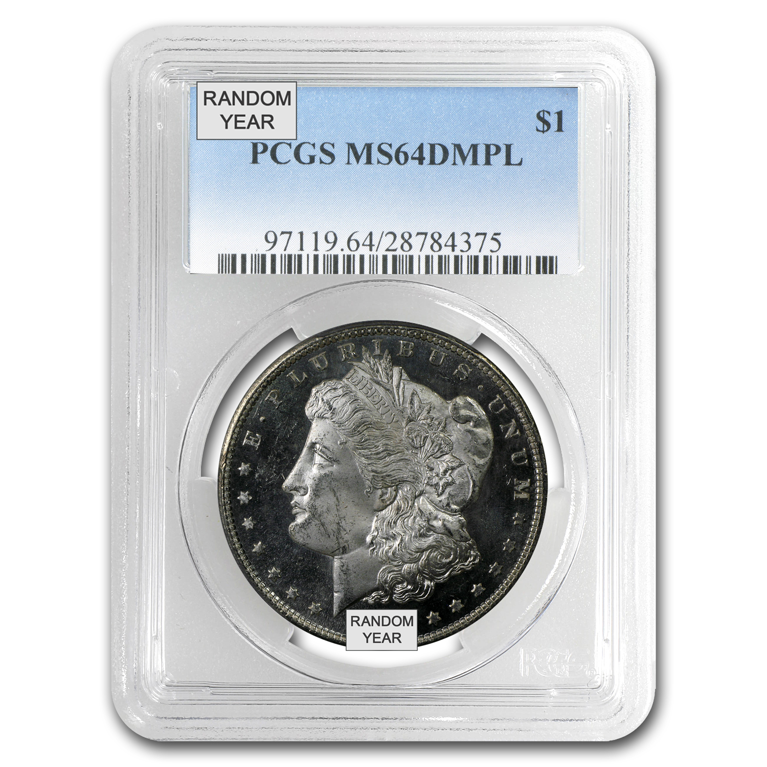 1878-1904 Morgan Dollars MS-64 PCGS (DMPL)