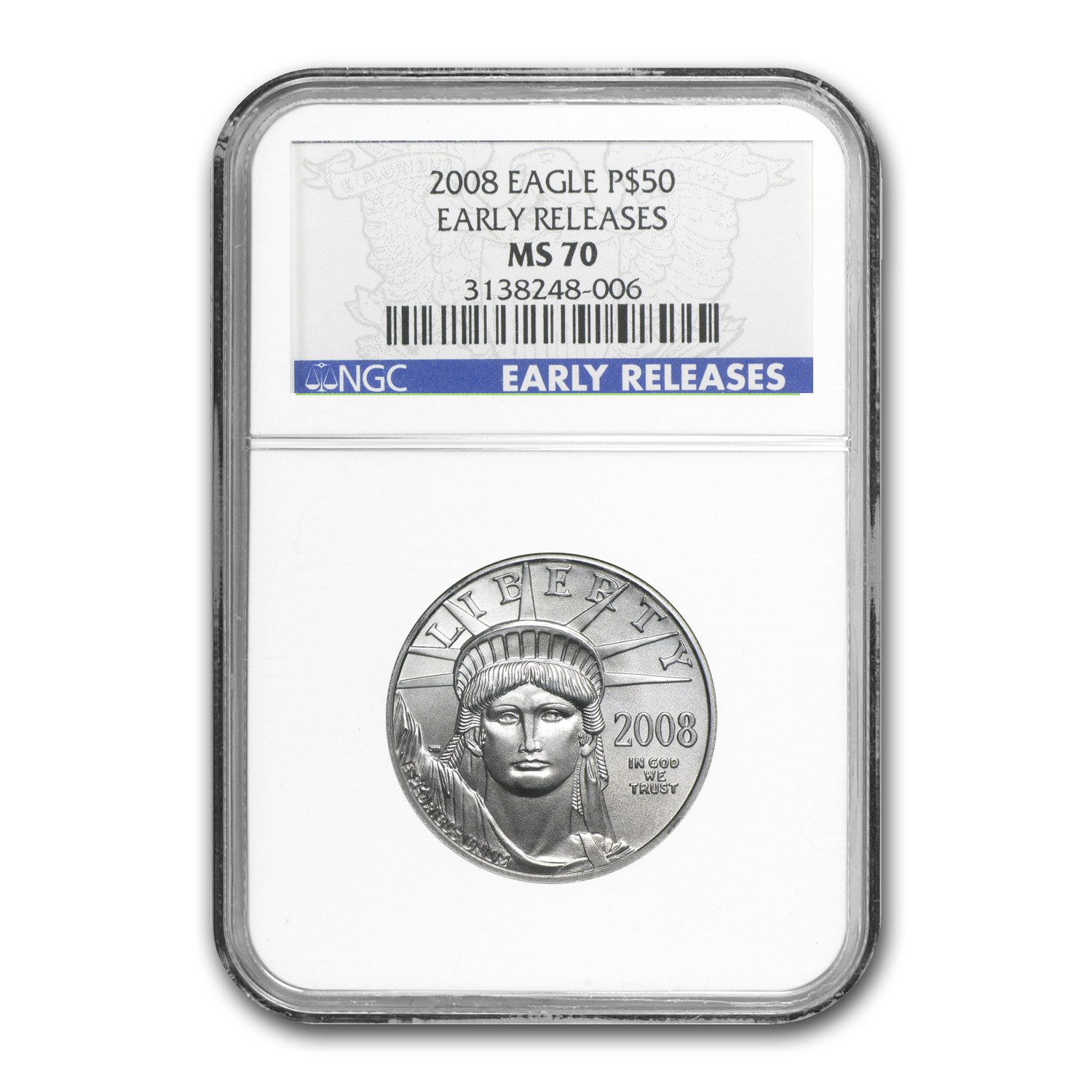 2008 4-Coin Platinum American Eagle Set MS-70 NGC (ER)