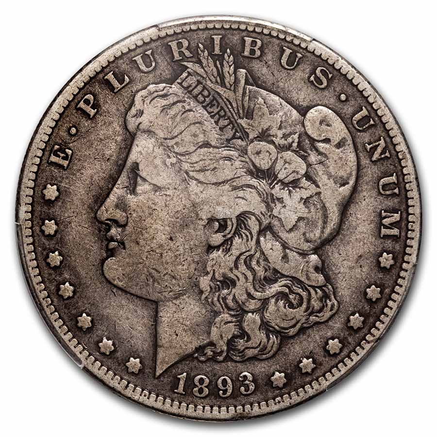1893-S Morgan Dollar Fine-15 PCGS