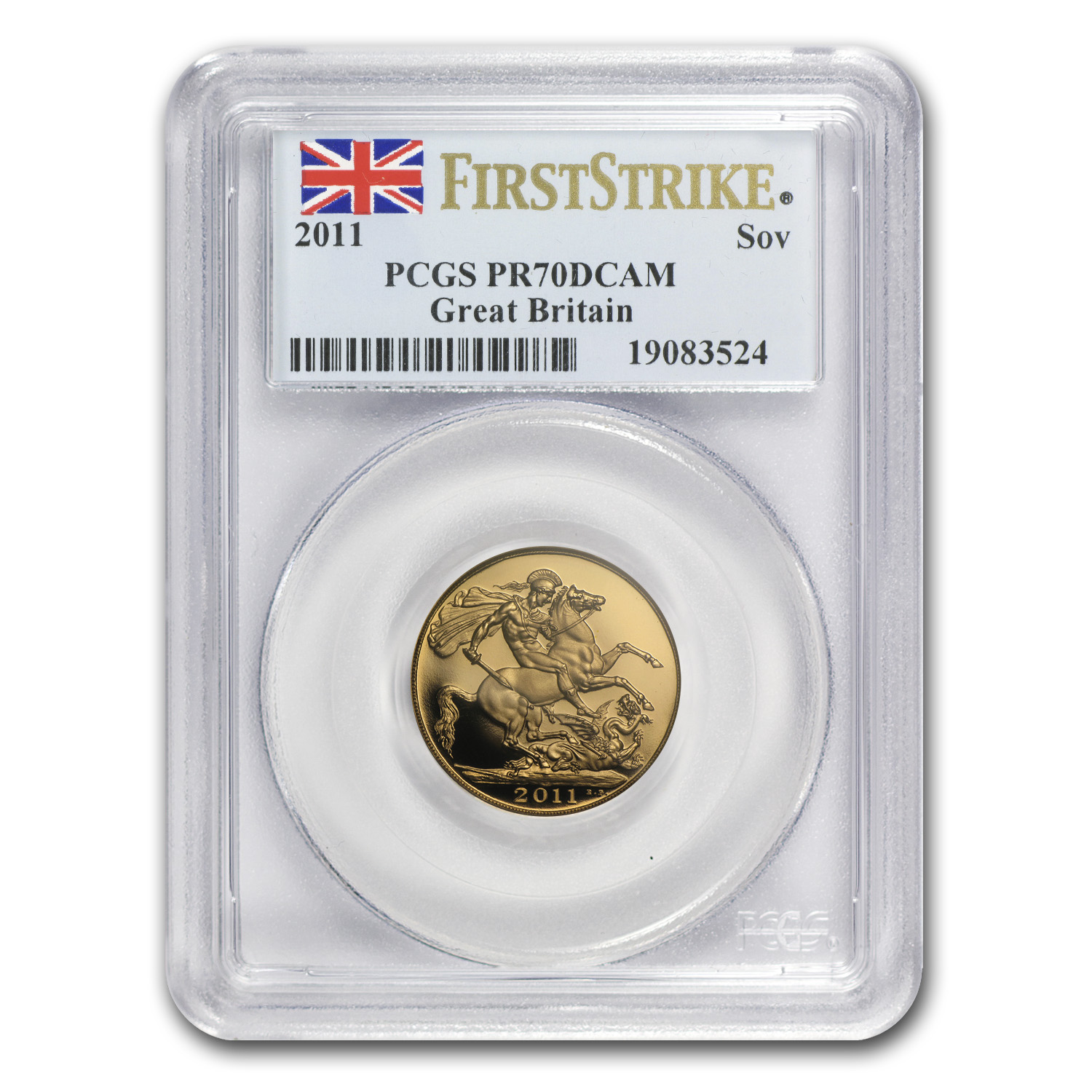 2011 Great Britain 5-pc Gold Sovereign Set PR-70 PCGS