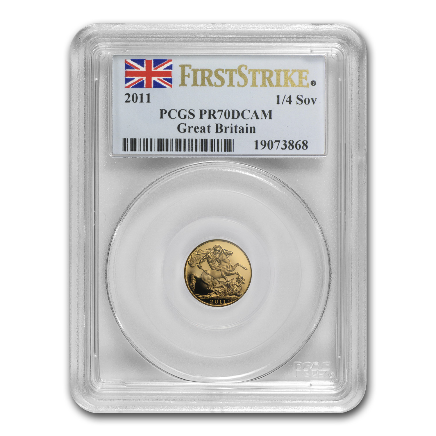 Great Britain 2011 5-pc Gold Sovereign Set PR-70 DCAM PCGS