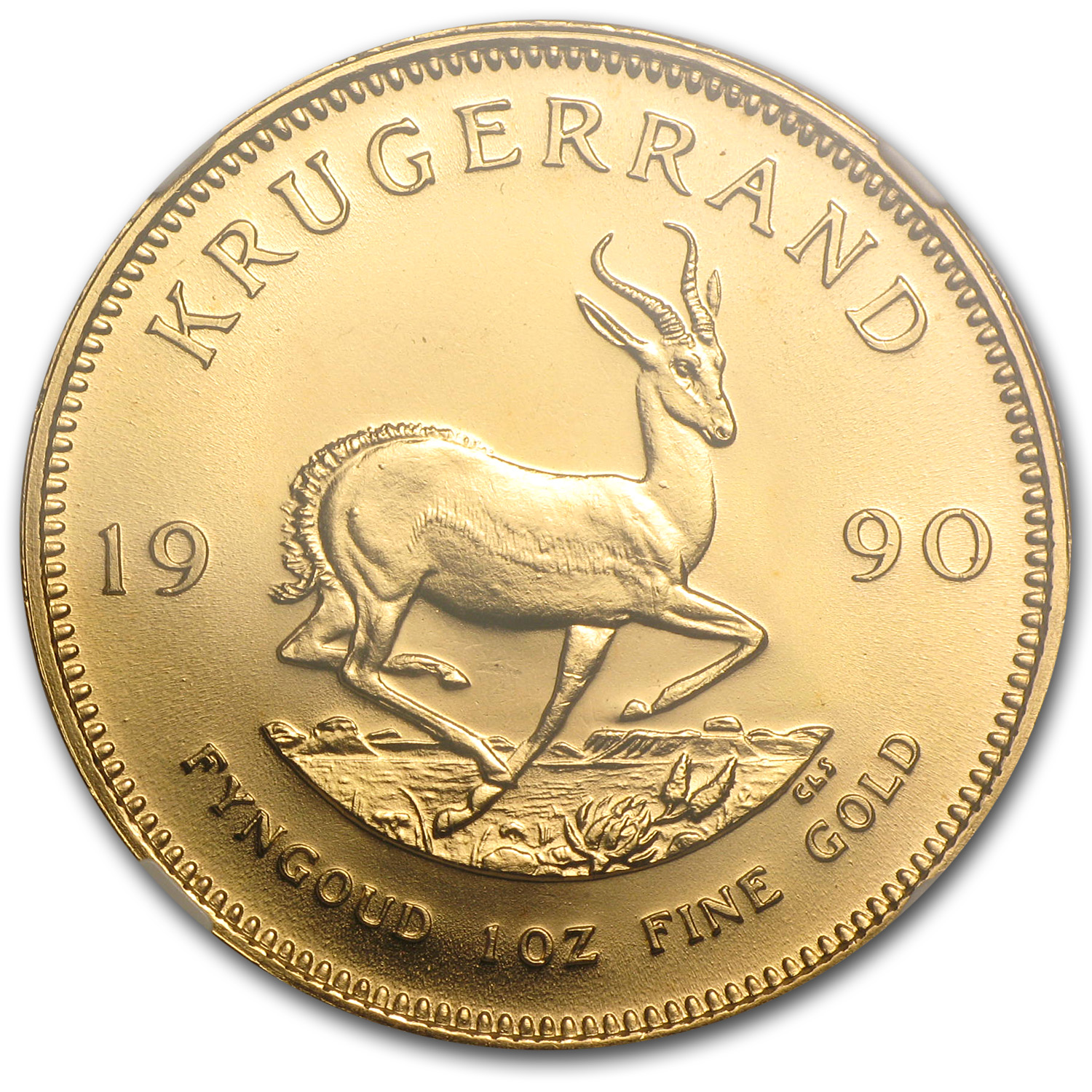 1990 1 oz Gold South African Krugerrand MS-68 NGC
