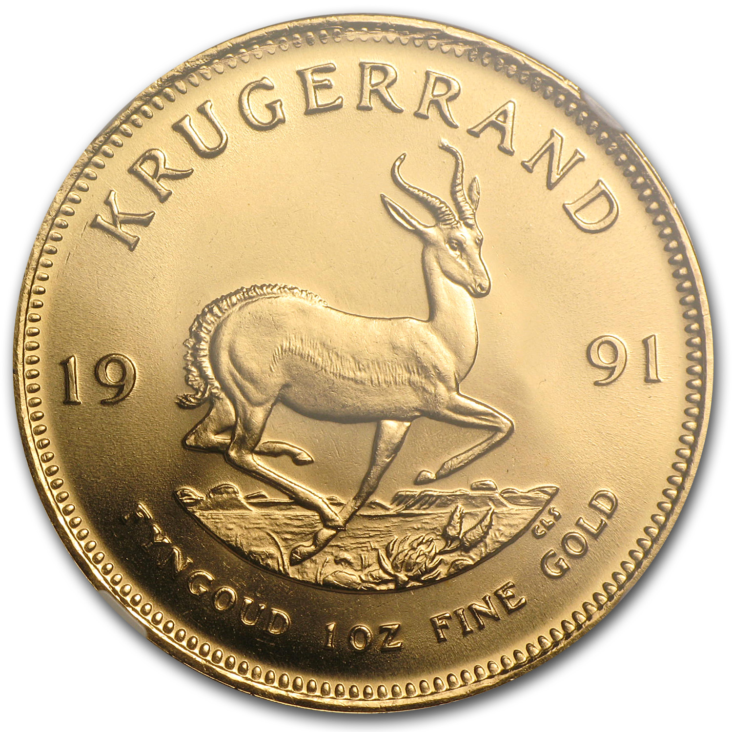 1991 1 oz Gold South African Krugerrand MS-68 NGC