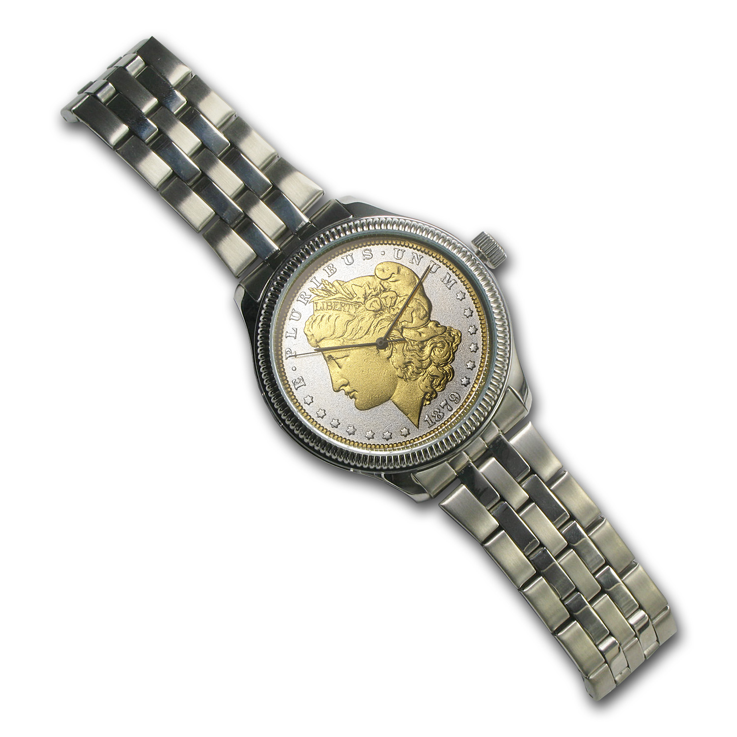 Men's Morgan Dollar Watch - Stainless Steel Bracelet