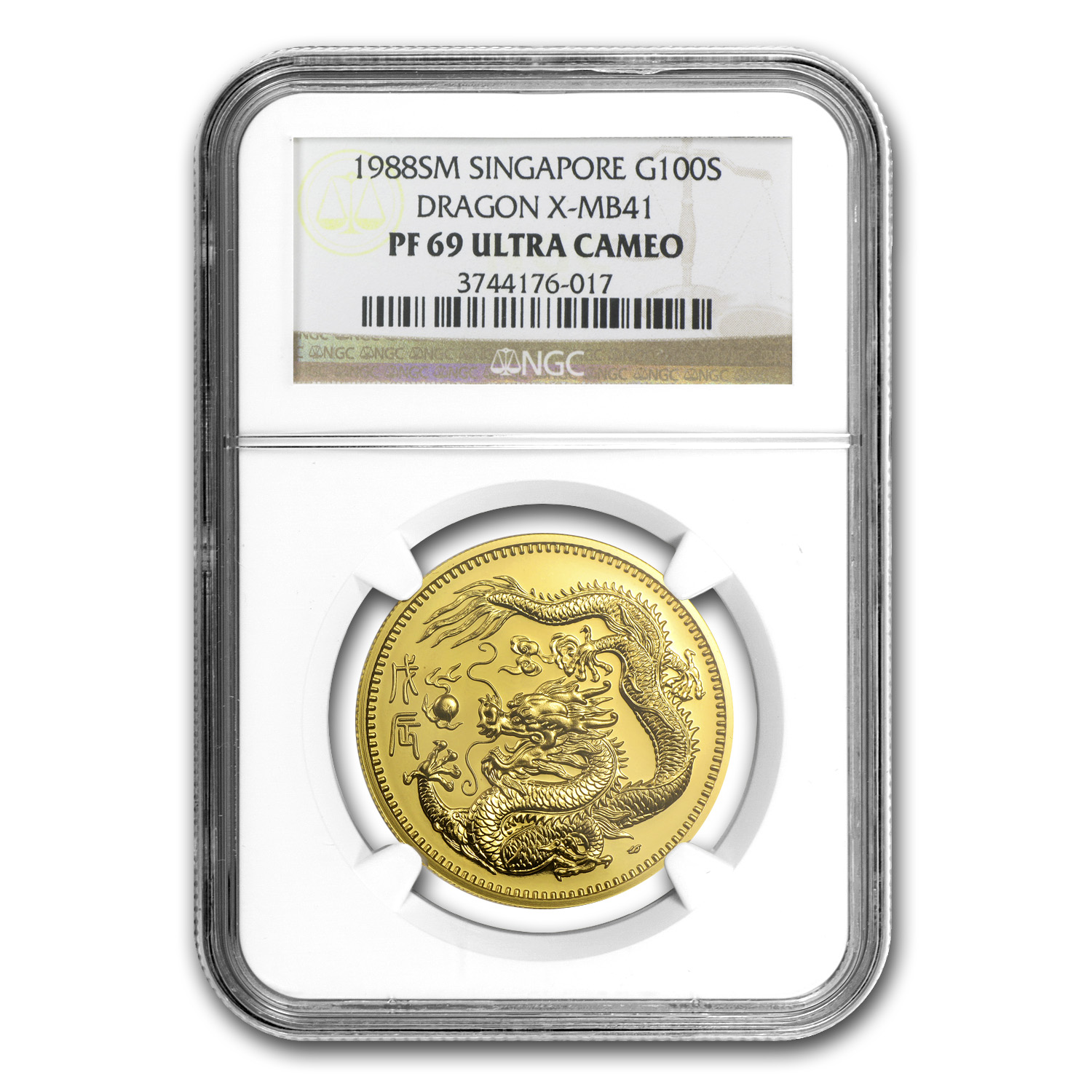 Singapore 1988 Singold Dragon Proof Set PF-69 UCAM NGC